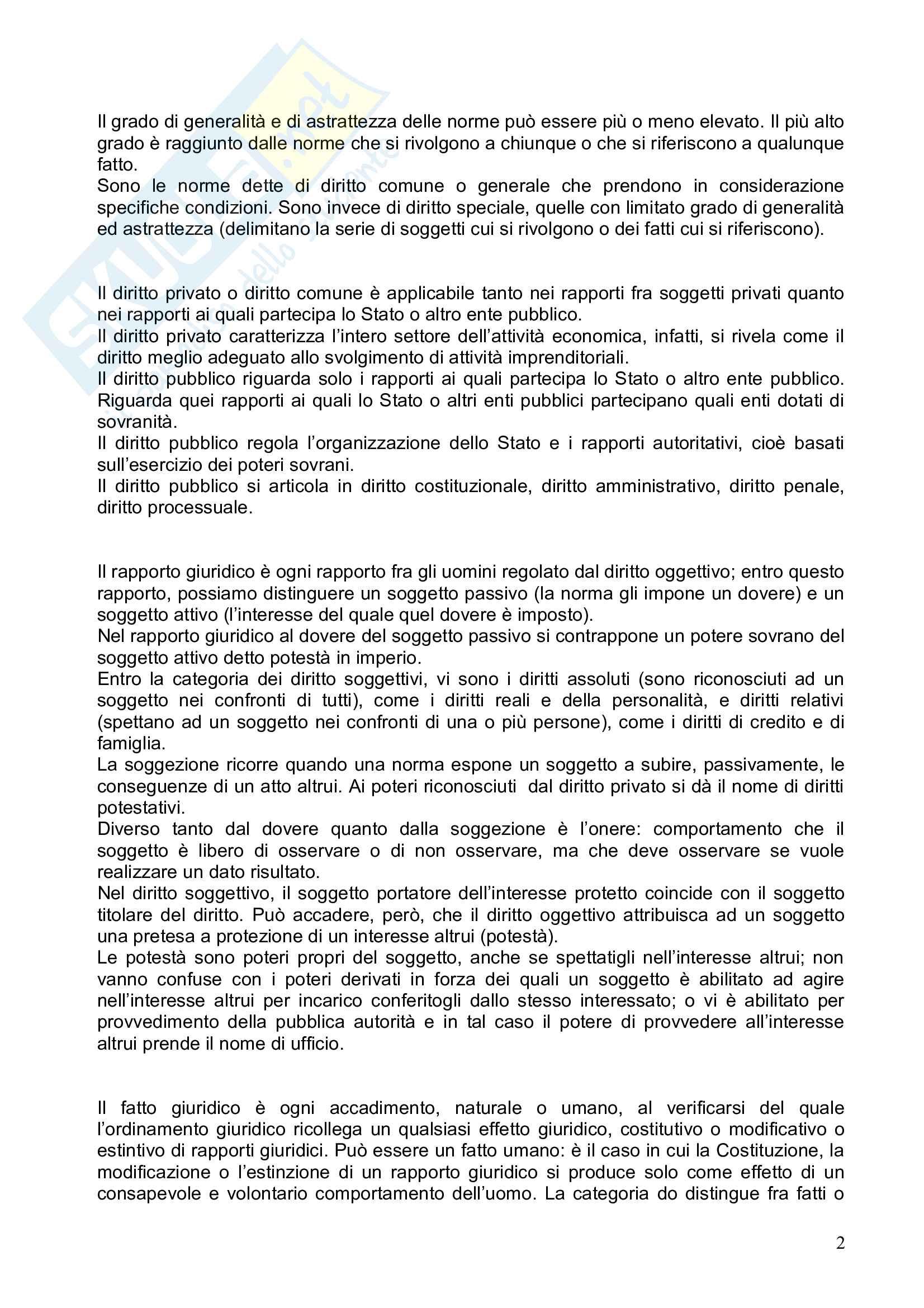 Riassunto esame Diritto Privato, prof. Pisani, libro consigliato Istituzioni di Diritto Privato, Galgano Pag. 2