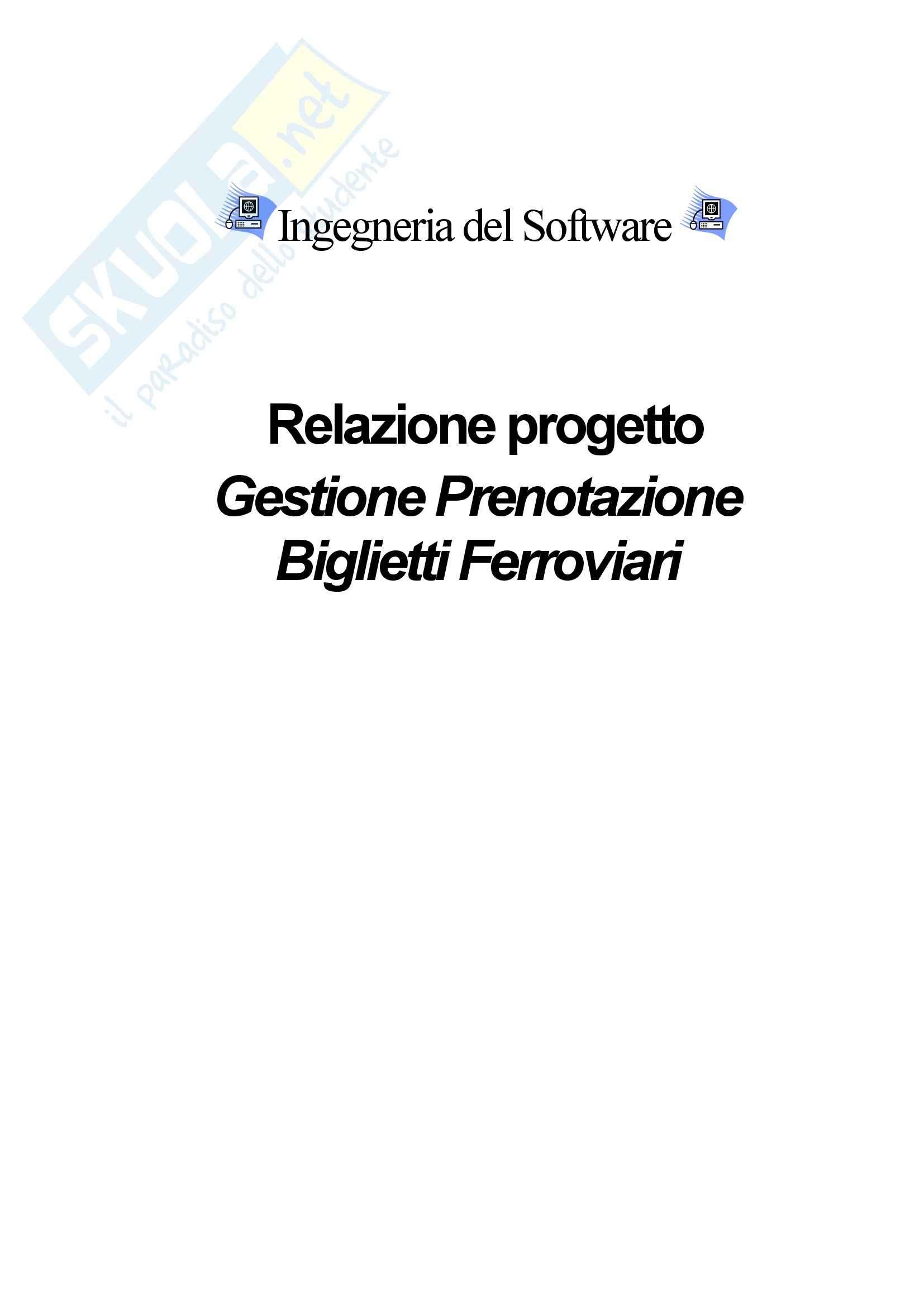 Ingegneria del software - Relazione del Progetto Gestione Prenotazione Biglietti Ferroviari