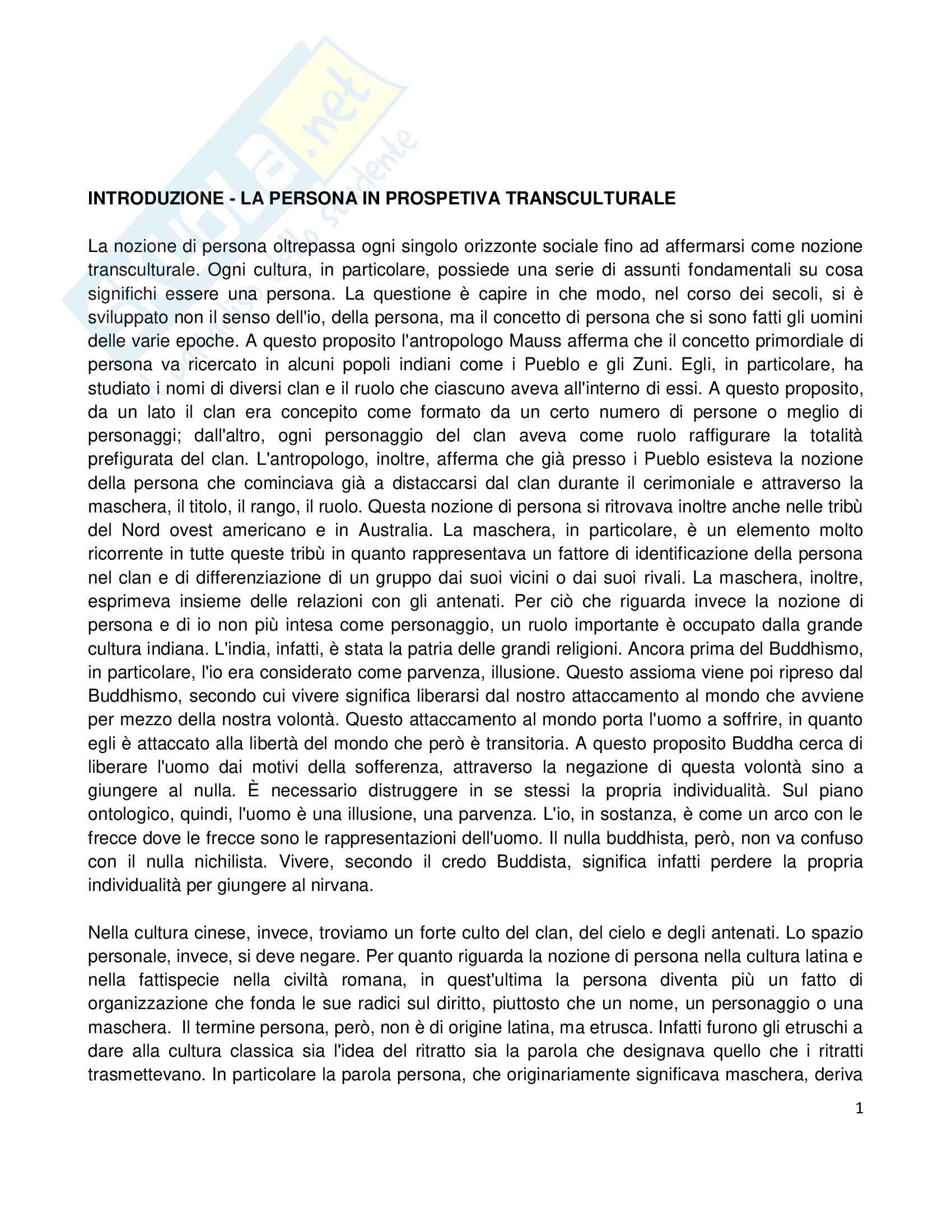 Riassunto esame Etica della Comunicazione, prof. Bellino, libro consigliato Persona e Ragionevolezza Pag. 1