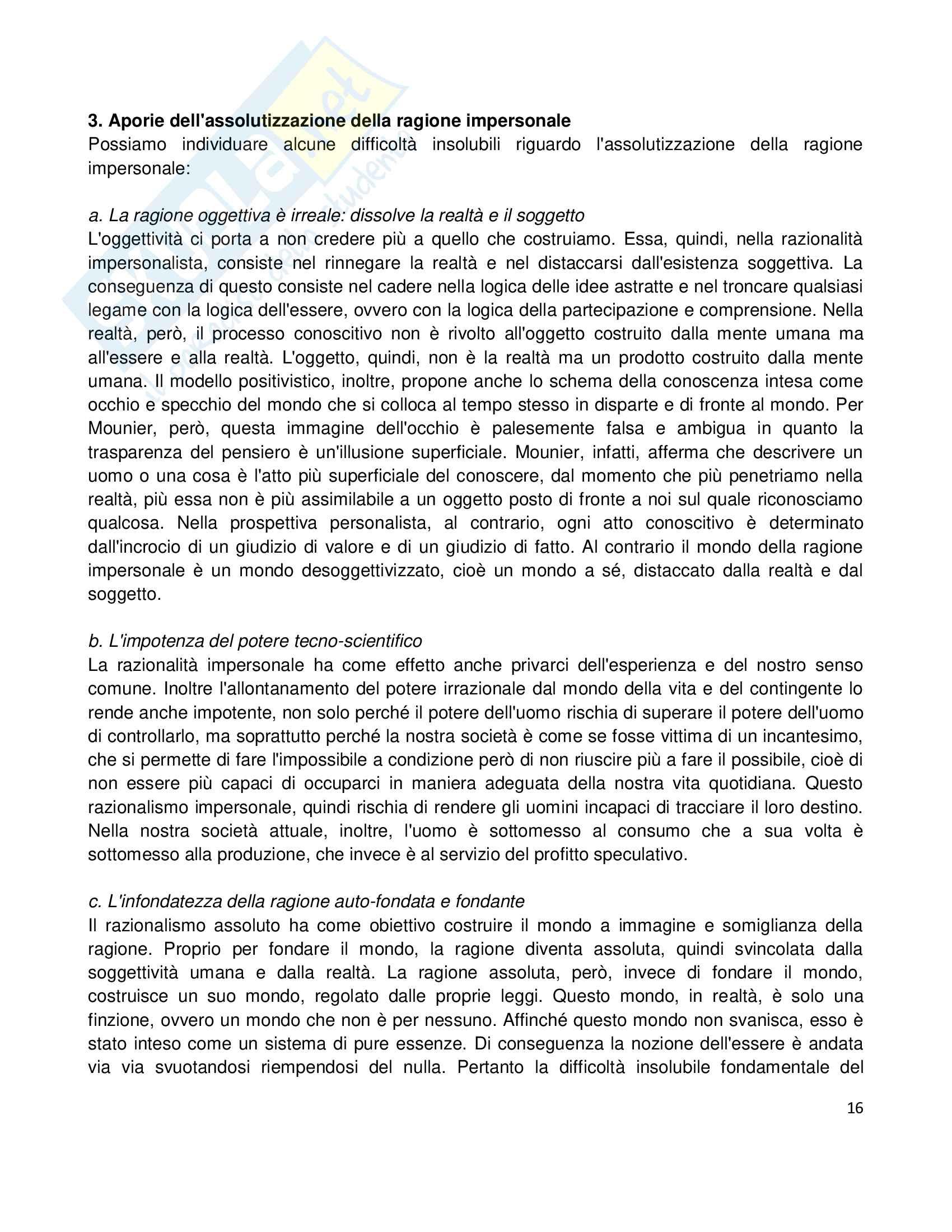 Riassunto esame Etica della Comunicazione, prof. Bellino, libro consigliato Persona e Ragionevolezza Pag. 16