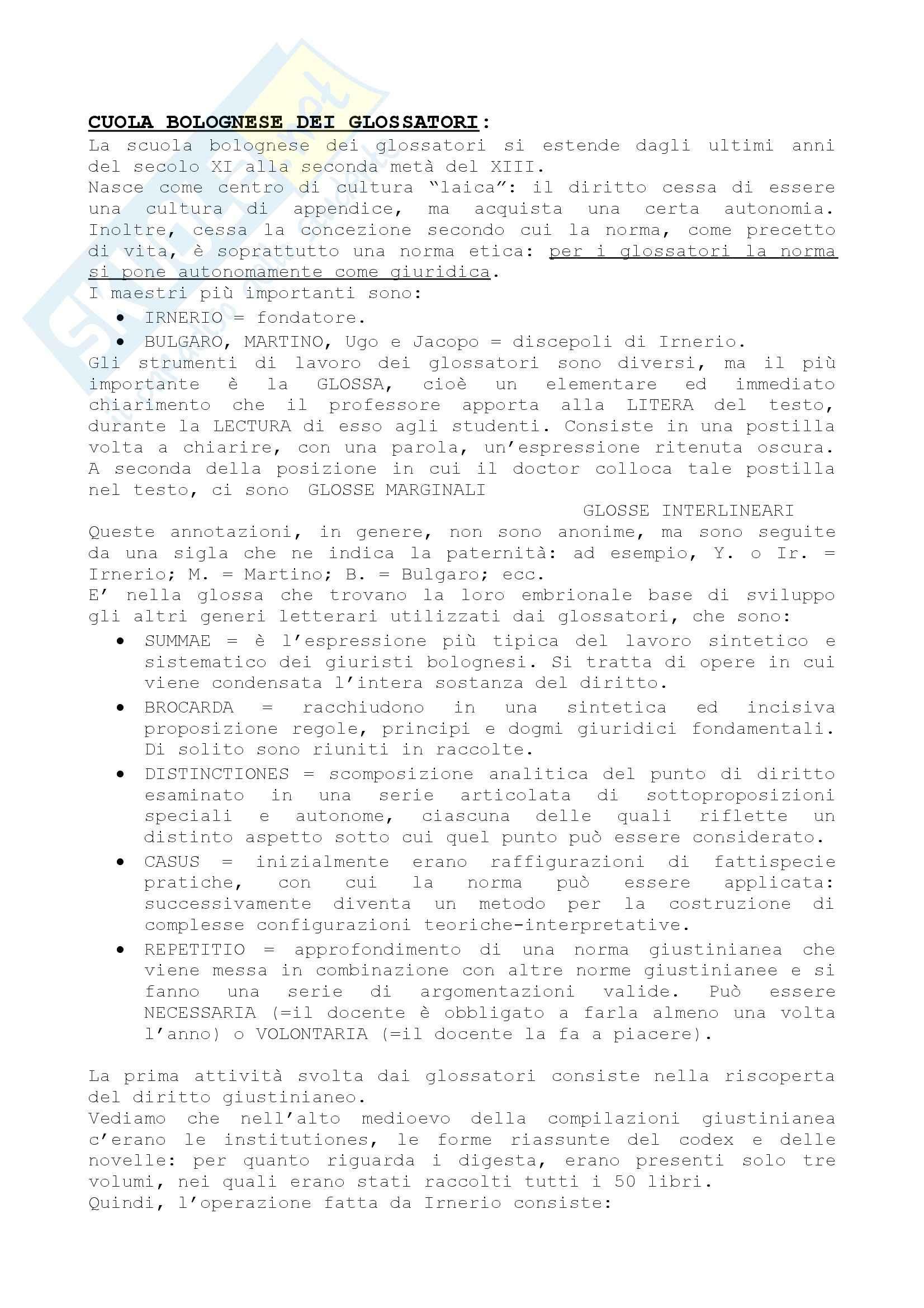 Glossatori e commentatori - Cavanna