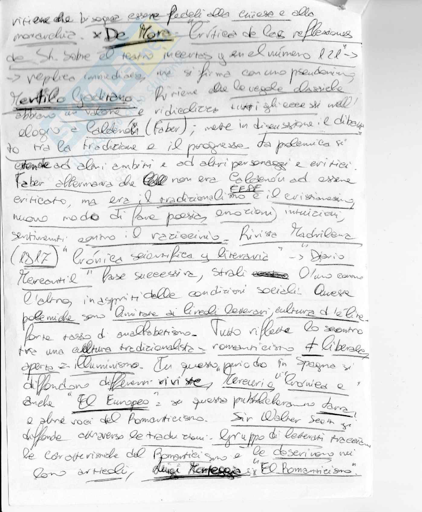 Letteratura spagnola III Dal 700 ad oggi Pag. 26