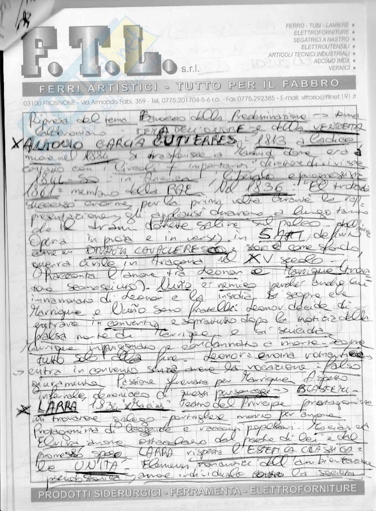 Letteratura spagnola III Dal 700 ad oggi Pag. 41