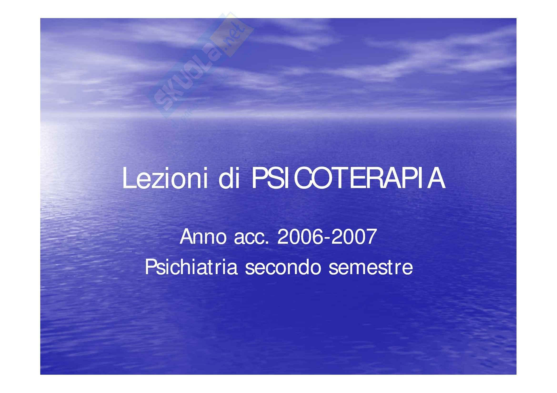 Scienze psichiatriche - Psicoterapia