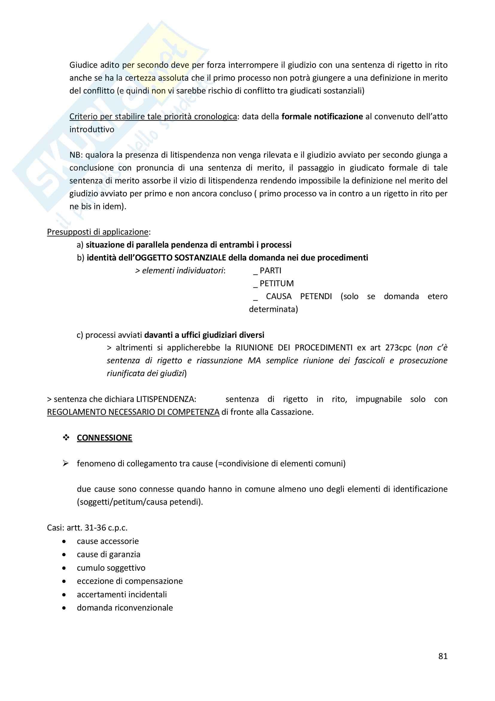 Riassunto esame Diritto Processuale Civile, prof. Consolo, libro consigliato Spiegazioni di diritto processuale civile Pag. 81
