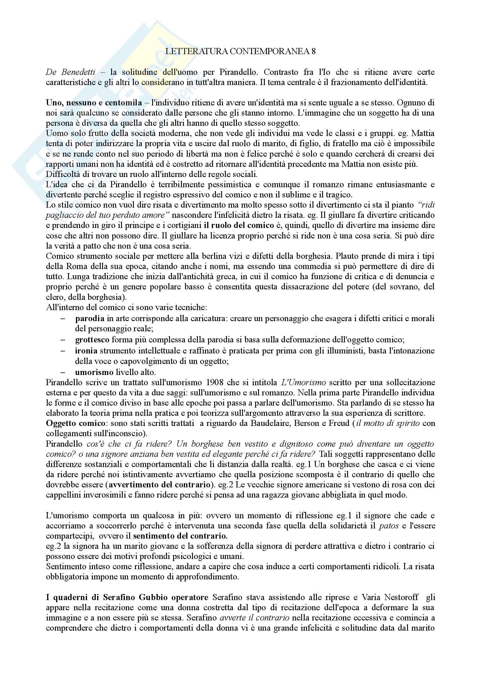 Letteratura Italiana Contemporanea Pag. 16