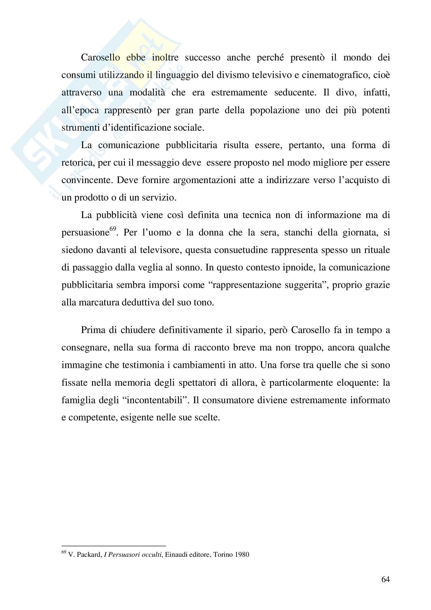 Economia dei media - pubblicità - Tesina Pag. 71