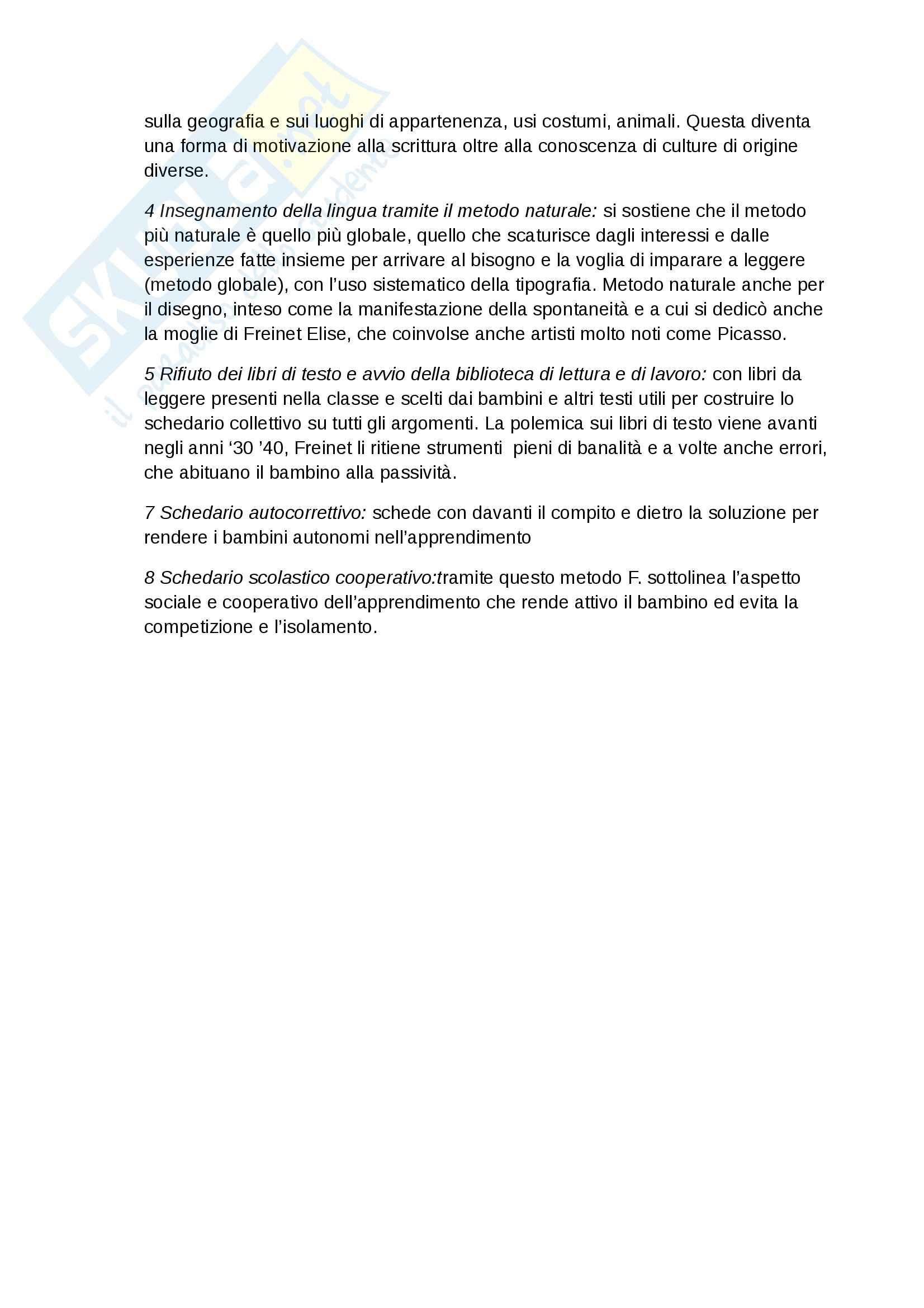 Storia dell'educazione -  attivismo pedagogico e autori salienti in Europa Pag. 6