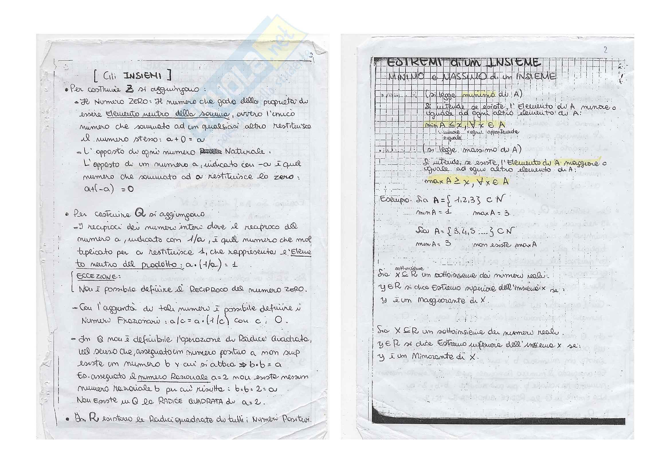 Matematica De Angelis Orale