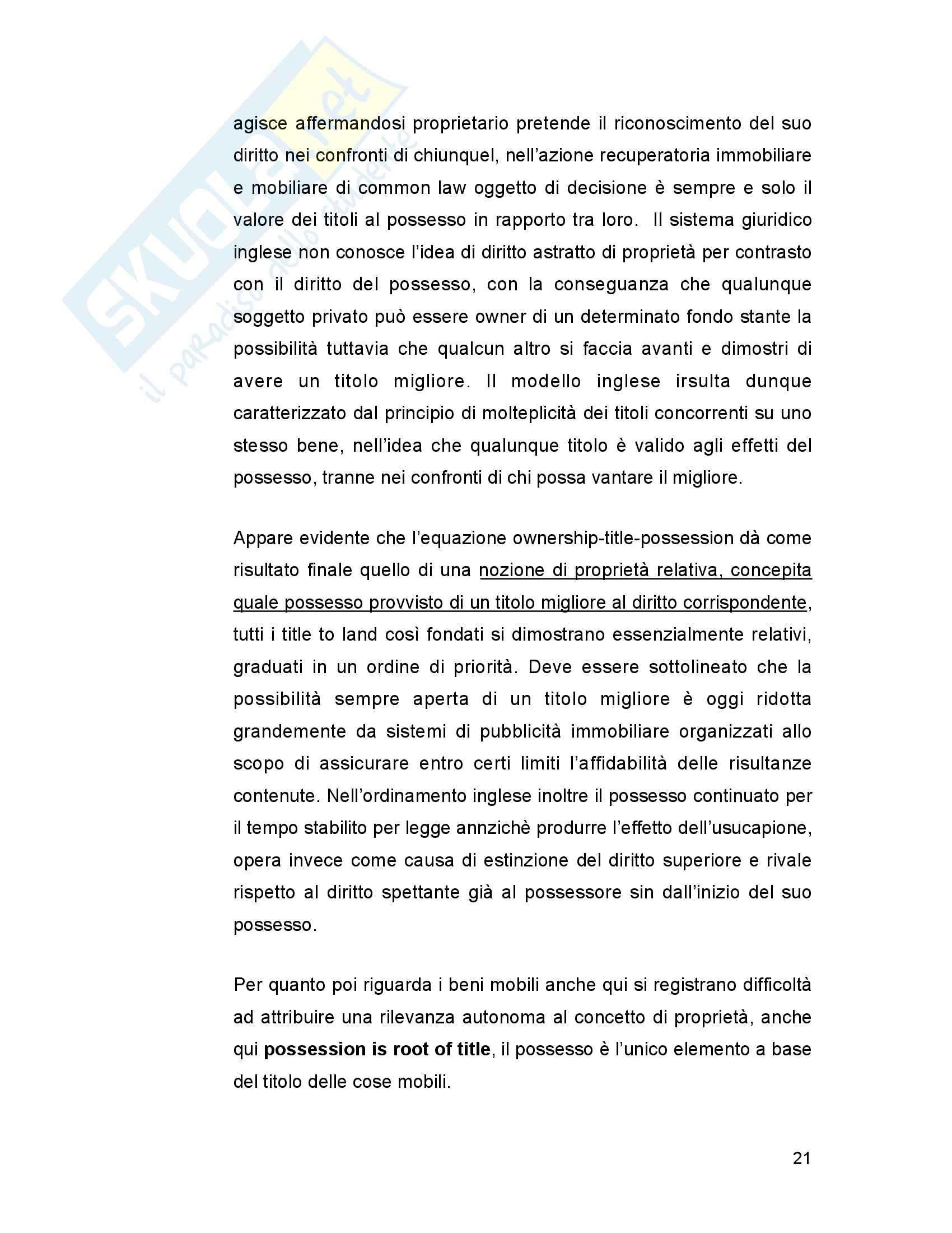 Diritto privato comparato - Riassunto esame parte speciale, prof. Resta Pag. 21