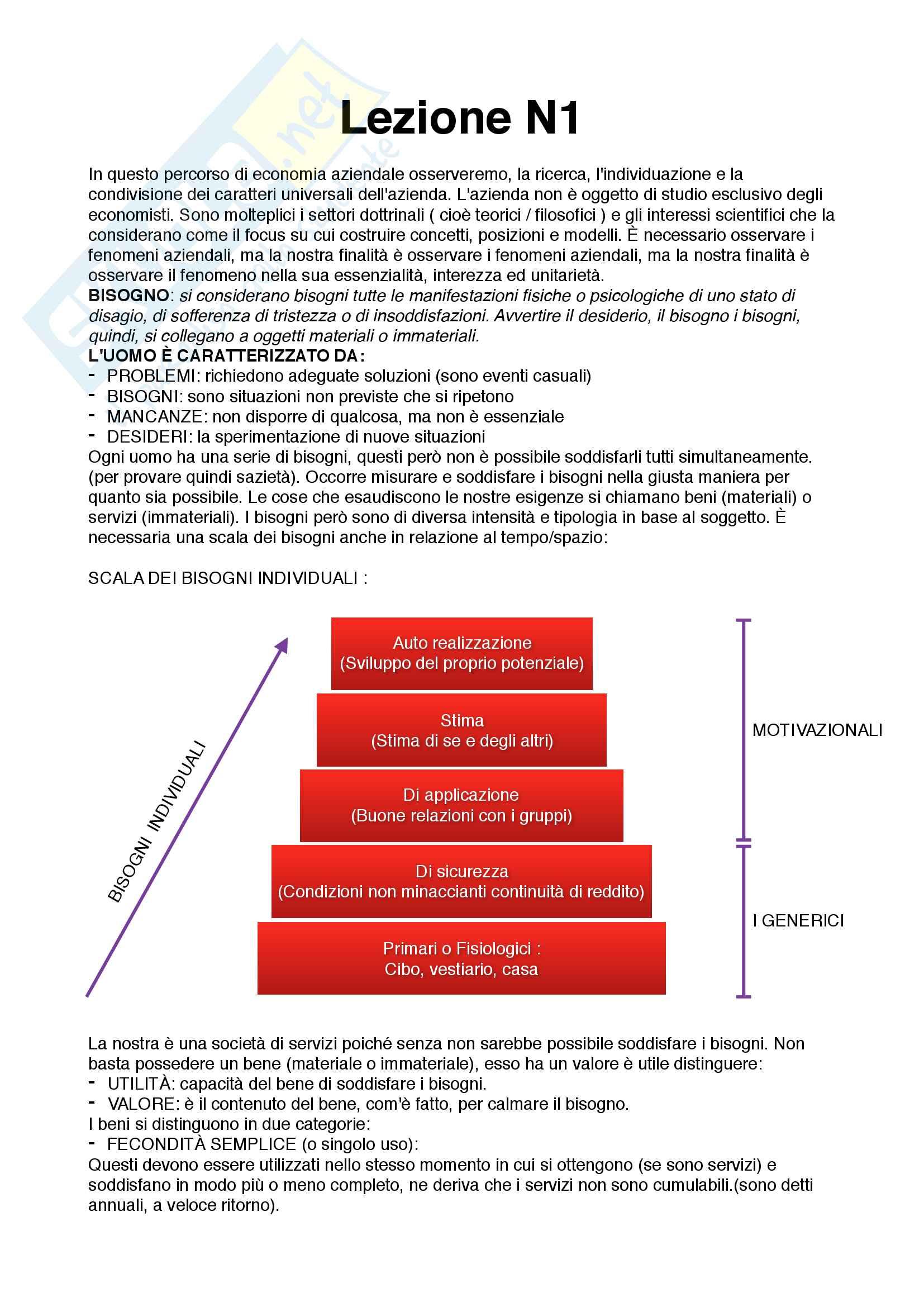Economia Aziendale: Preparazione esame intermedio