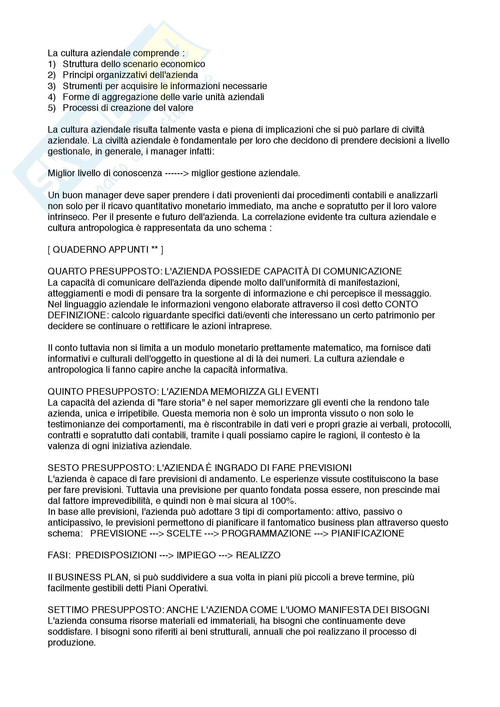 Economia Aziendale: Preparazione esame intermedio Pag. 6