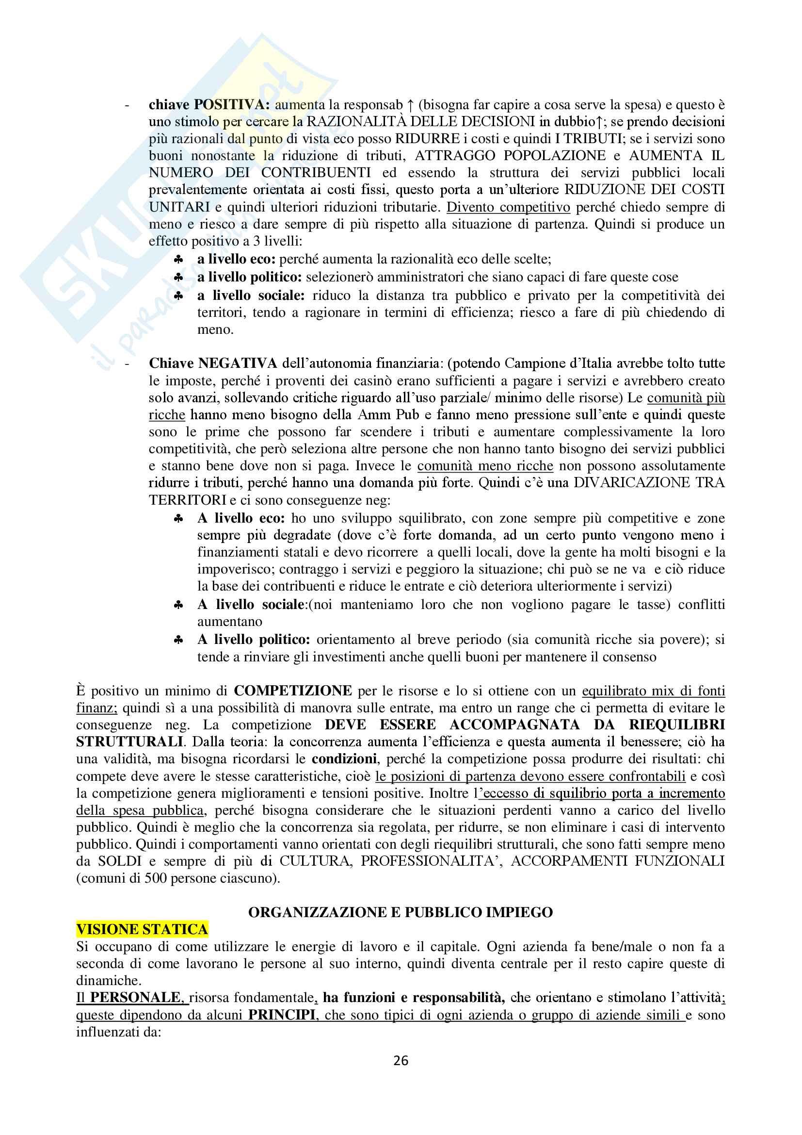 Economia delle aziende e delle amministrazioni pubbliche, prima parte Pag. 26