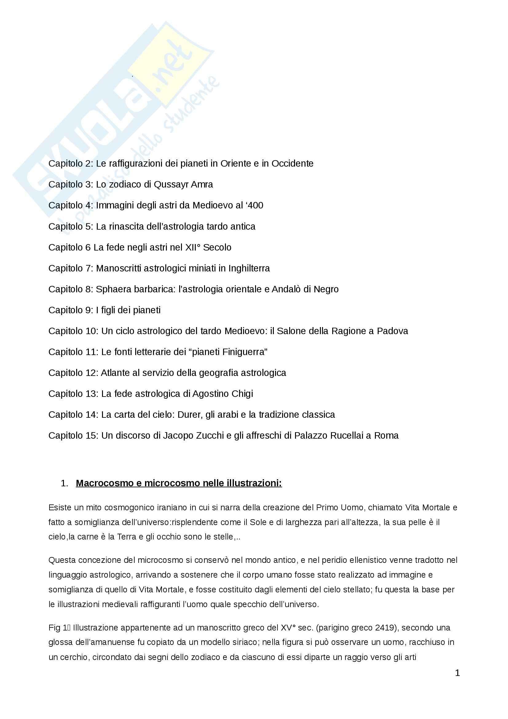 Riassunto esame Museologia e iconografia, prof. Maffei, libro consigliato La fede negli astri, Saxl