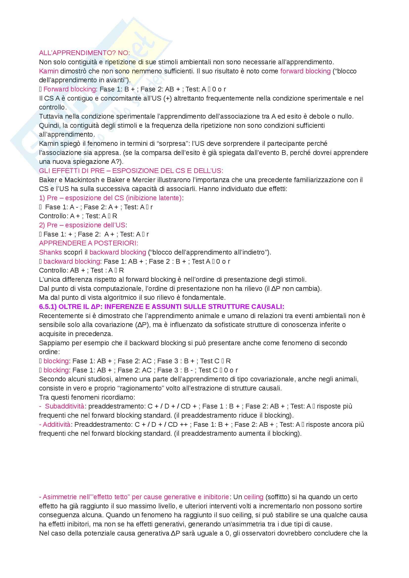 Riassunto esame Psicologia generale 1, prof. Bricolo, libro consigliato Psicologia generale 1, Cherubini Pag. 71