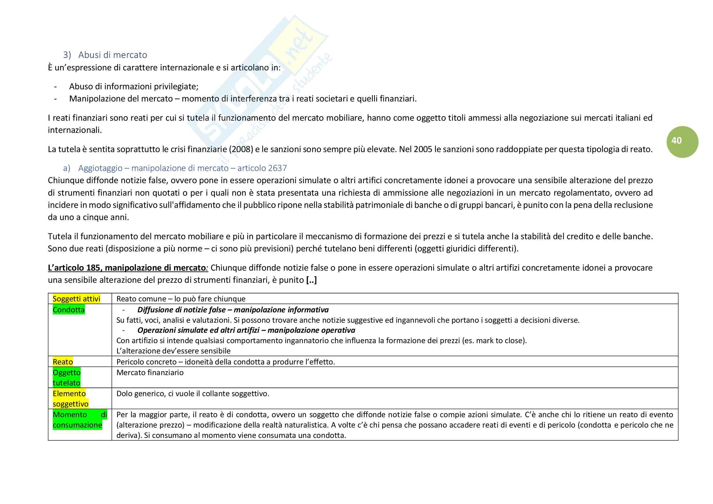 33bb241b04 Concetti: Appunti di Diritto Penale per l'economia