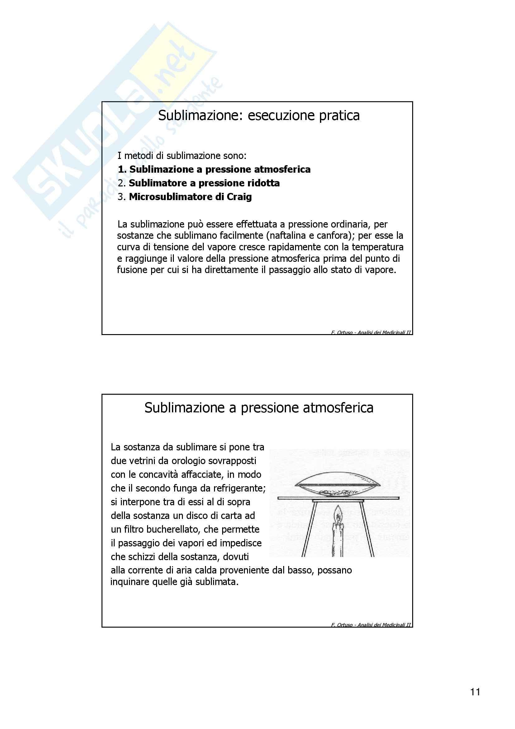 Laboratorio di preparazioni estrattive e sintesi dei farmaci - cristallizzazione Pag. 11