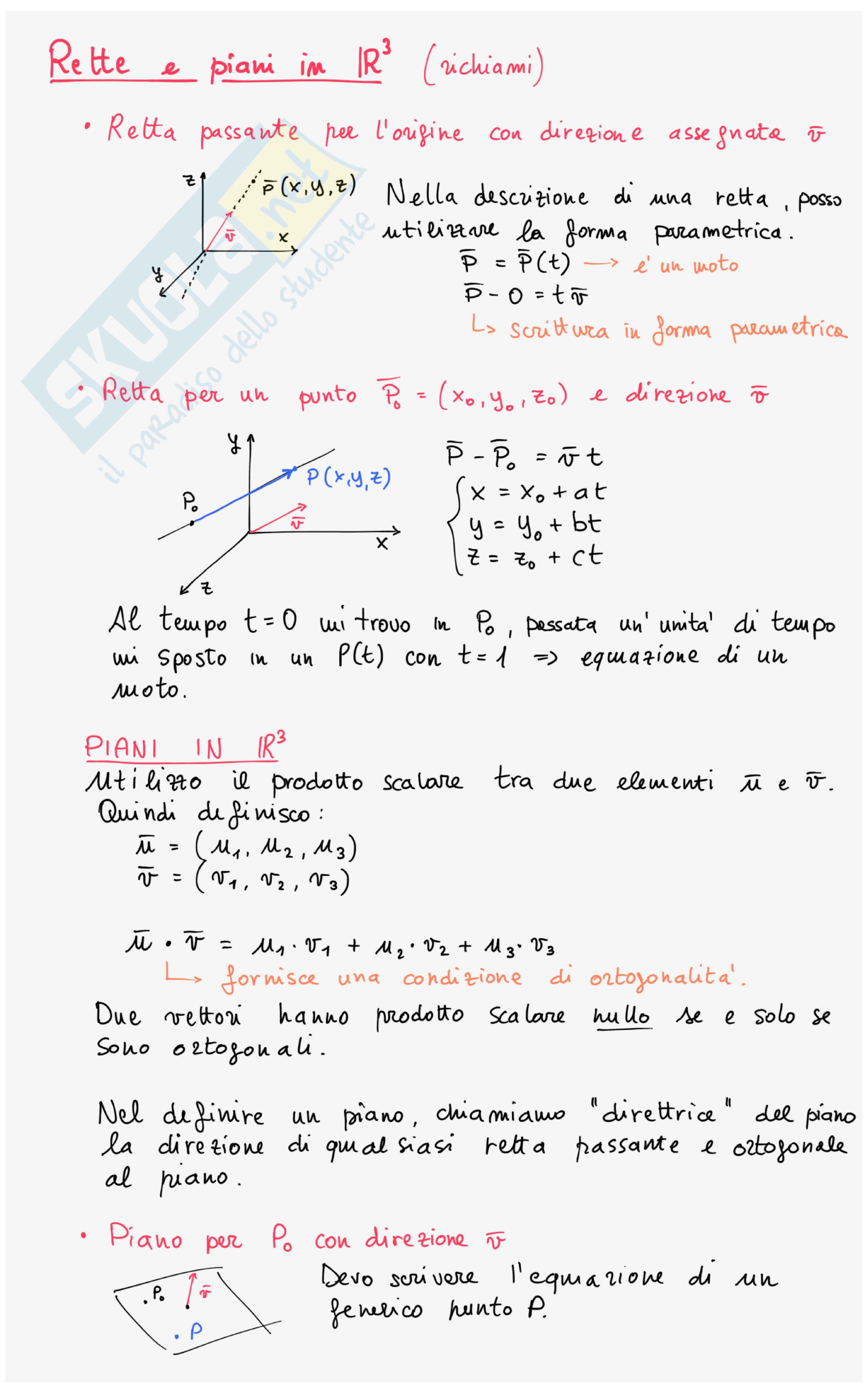 Appunti Analisi e Geometria 2