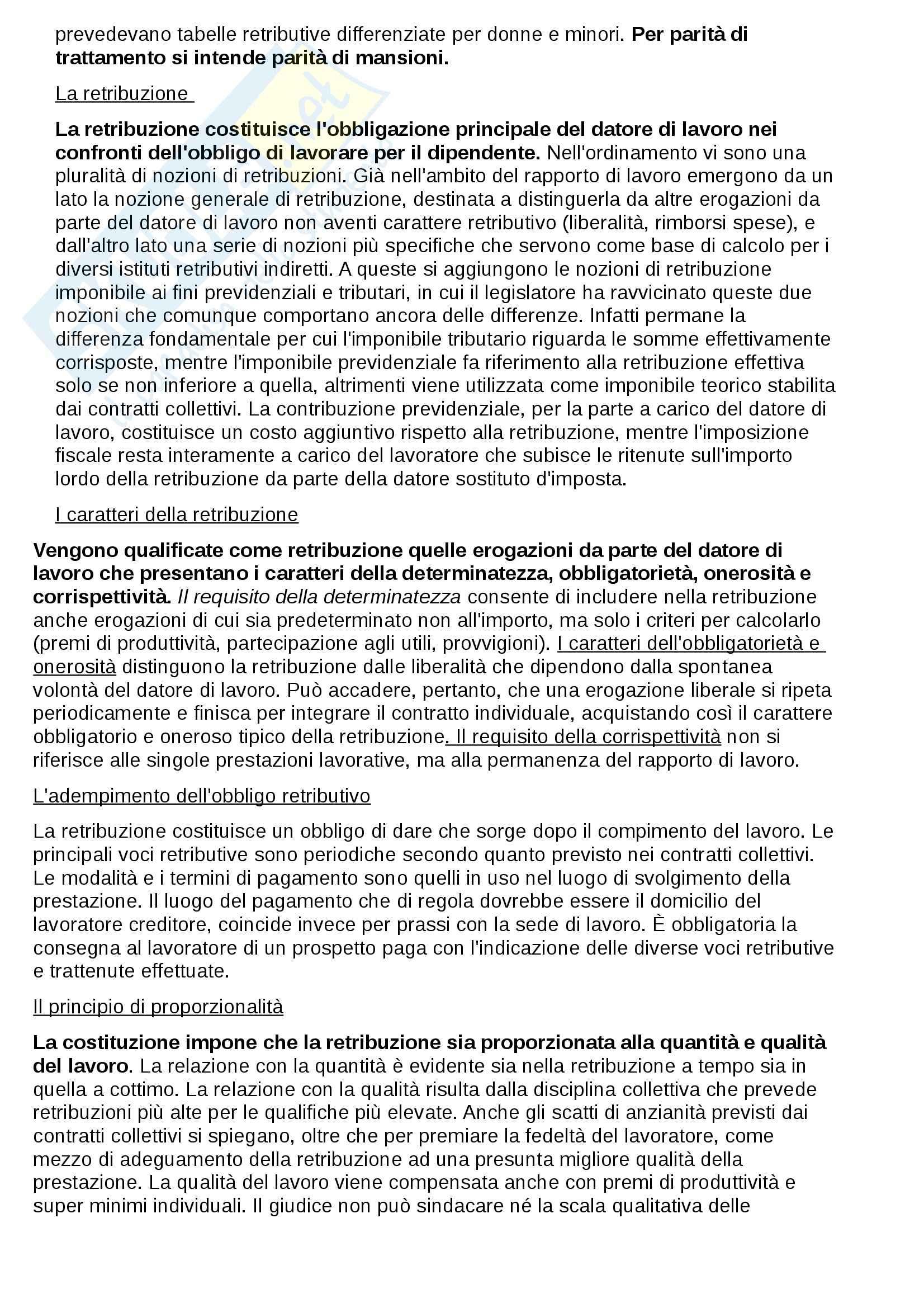 Riassunto esame Diritto del lavoro, prof. Fiorillo Pag. 26