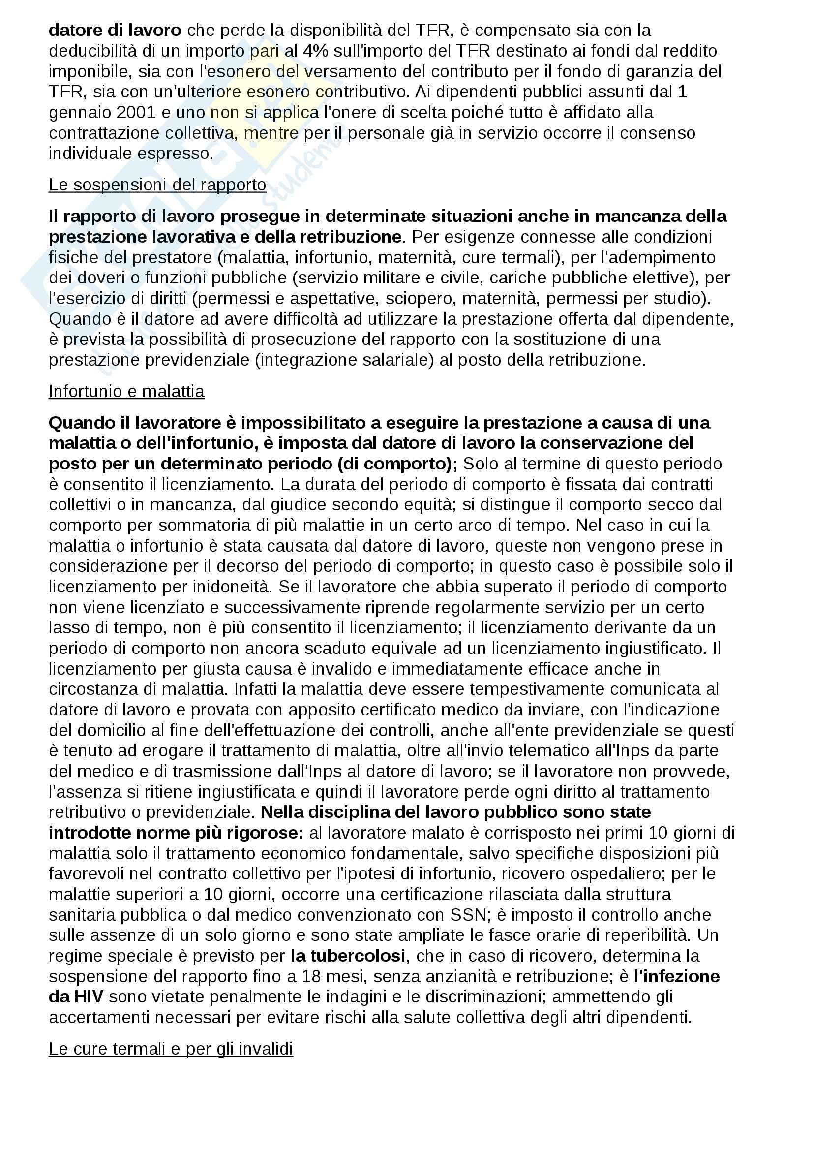 Riassunto esame Diritto del lavoro, prof. Fiorillo Pag. 31