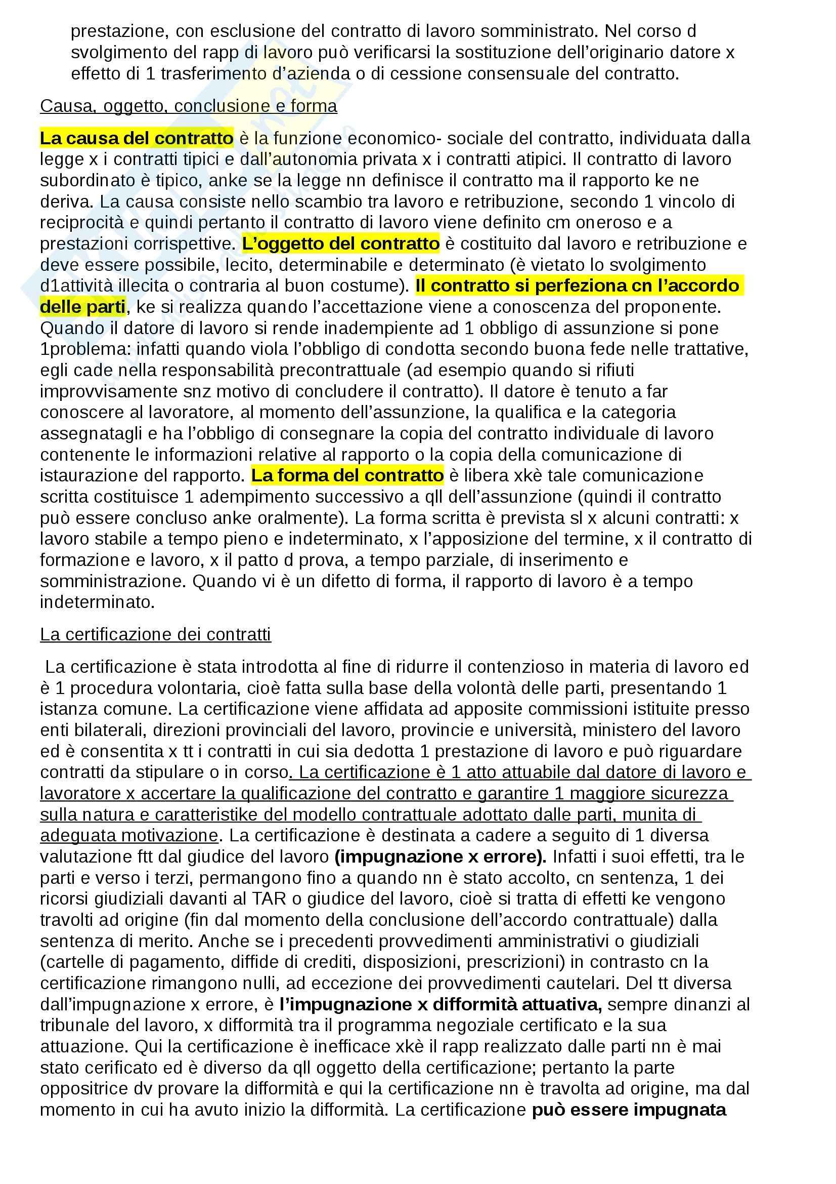 Riassunto esame Diritto del lavoro, prof. Fiorillo Pag. 6