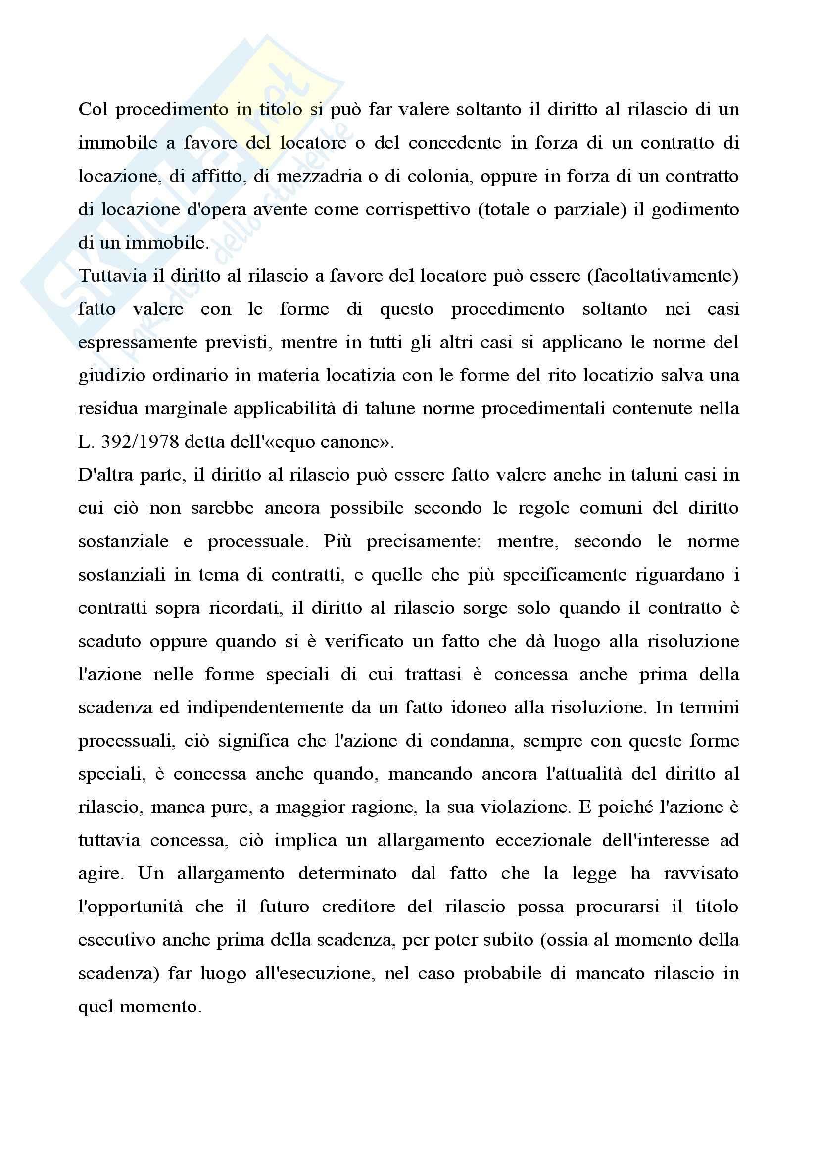 Procedura civile - il procedimento di convalida di sfratto Pag. 2