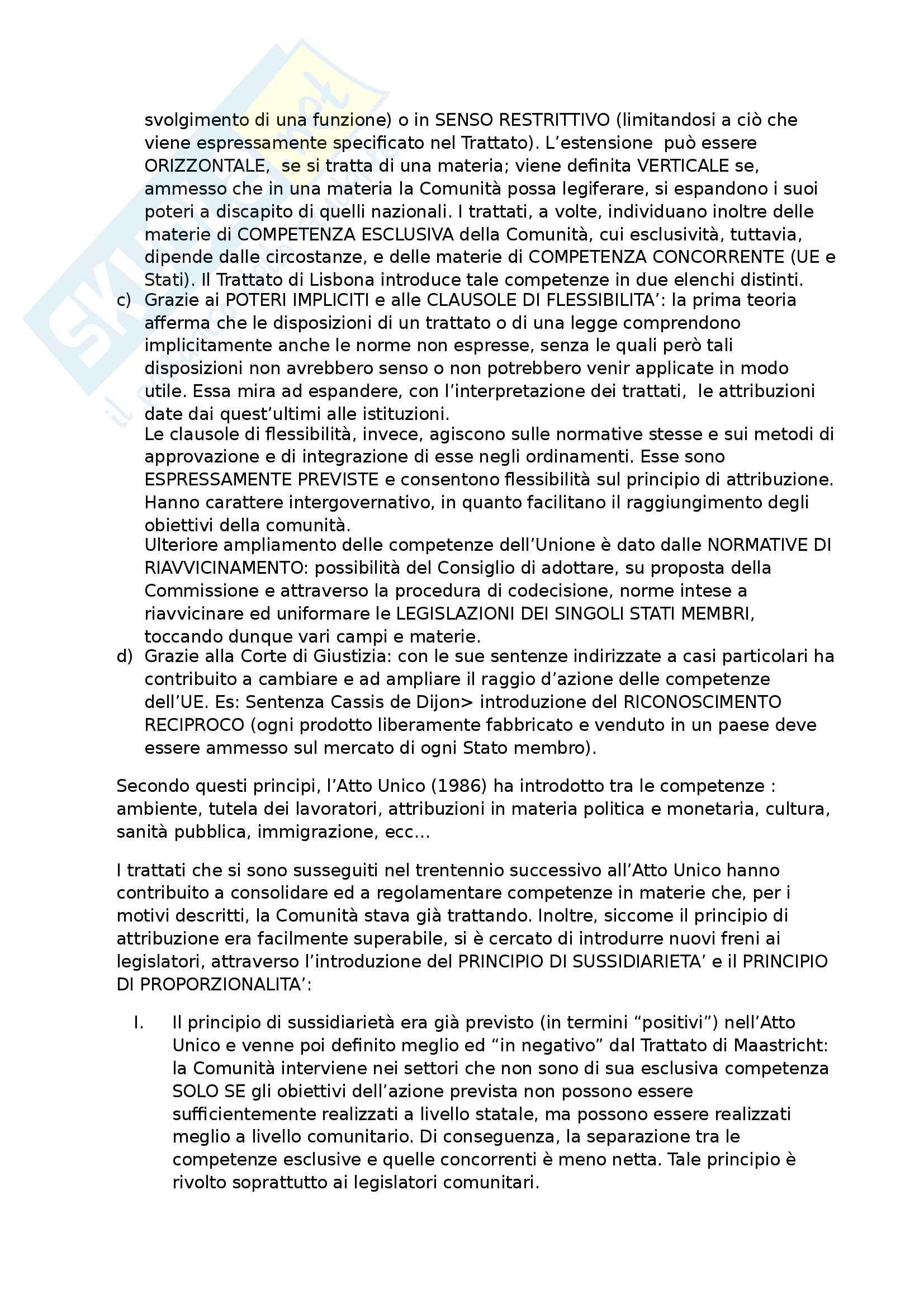 riassunti per l'esame di Diritto Pubblico Europeo, riassunti per l'esame Pag. 11