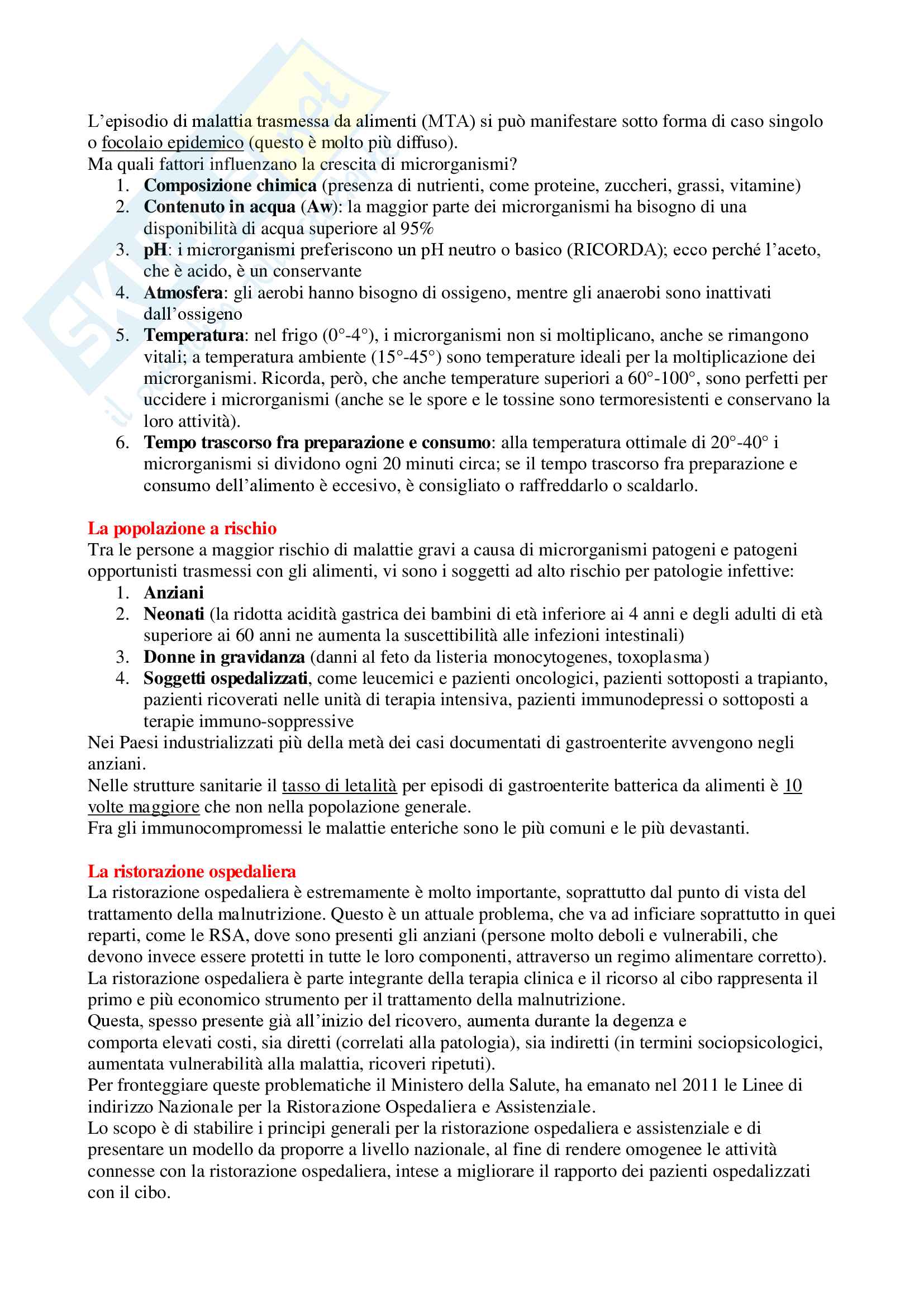 Igiene Applicata - Appunti Completi Pag. 6