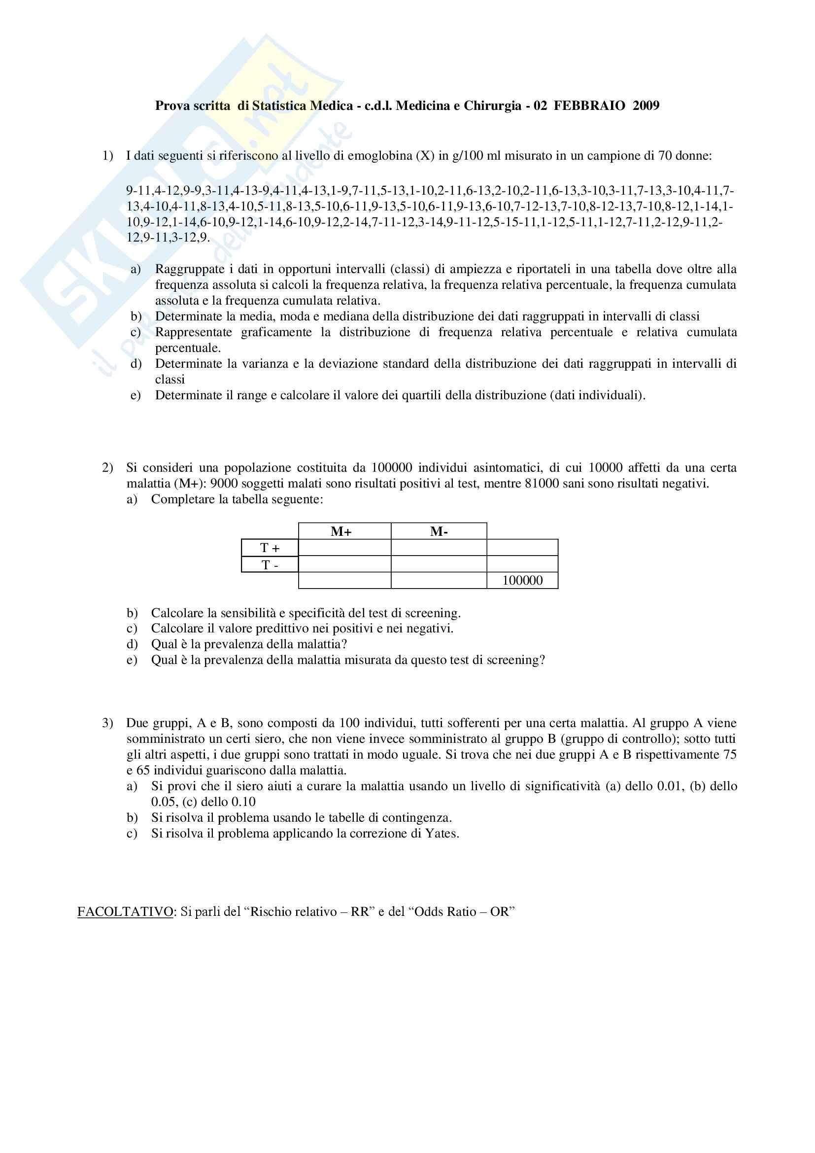 Statistica - Esercitazione