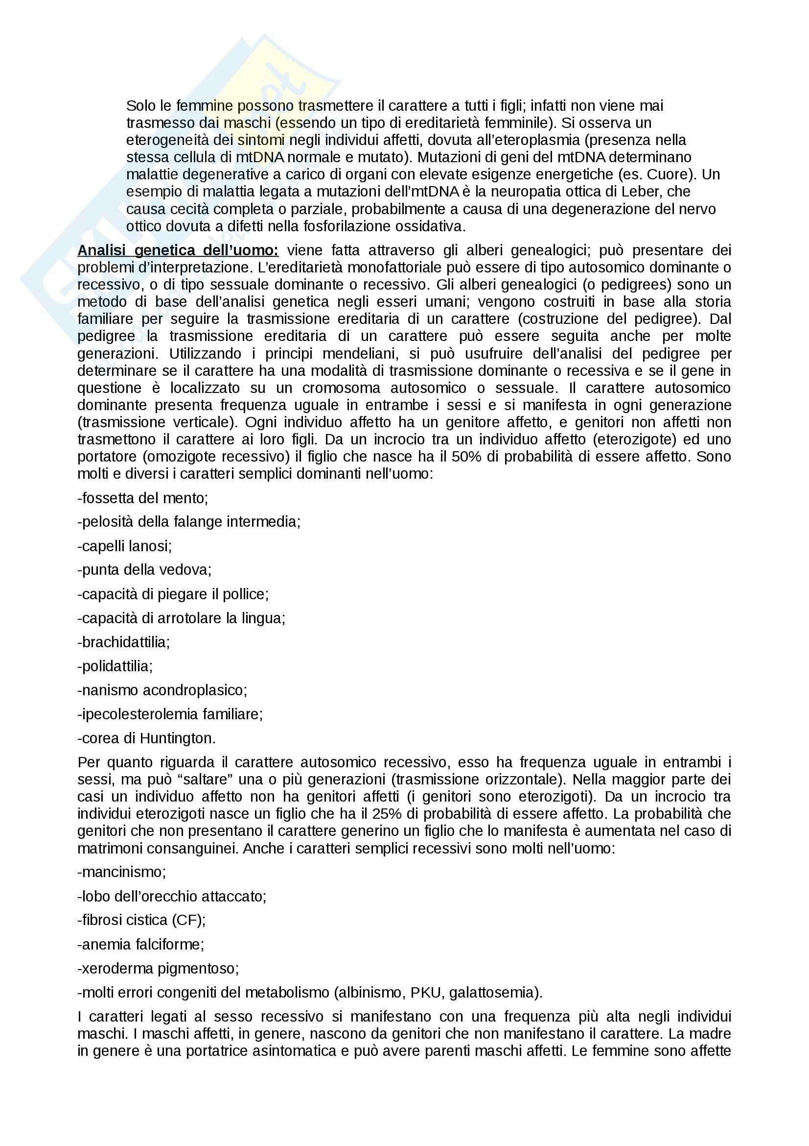 Riassunto esame Biologia e Genetica, prof. Combi, libro consigliato Elementi di Biologia, Solomon, Berg, Martin Pag. 66