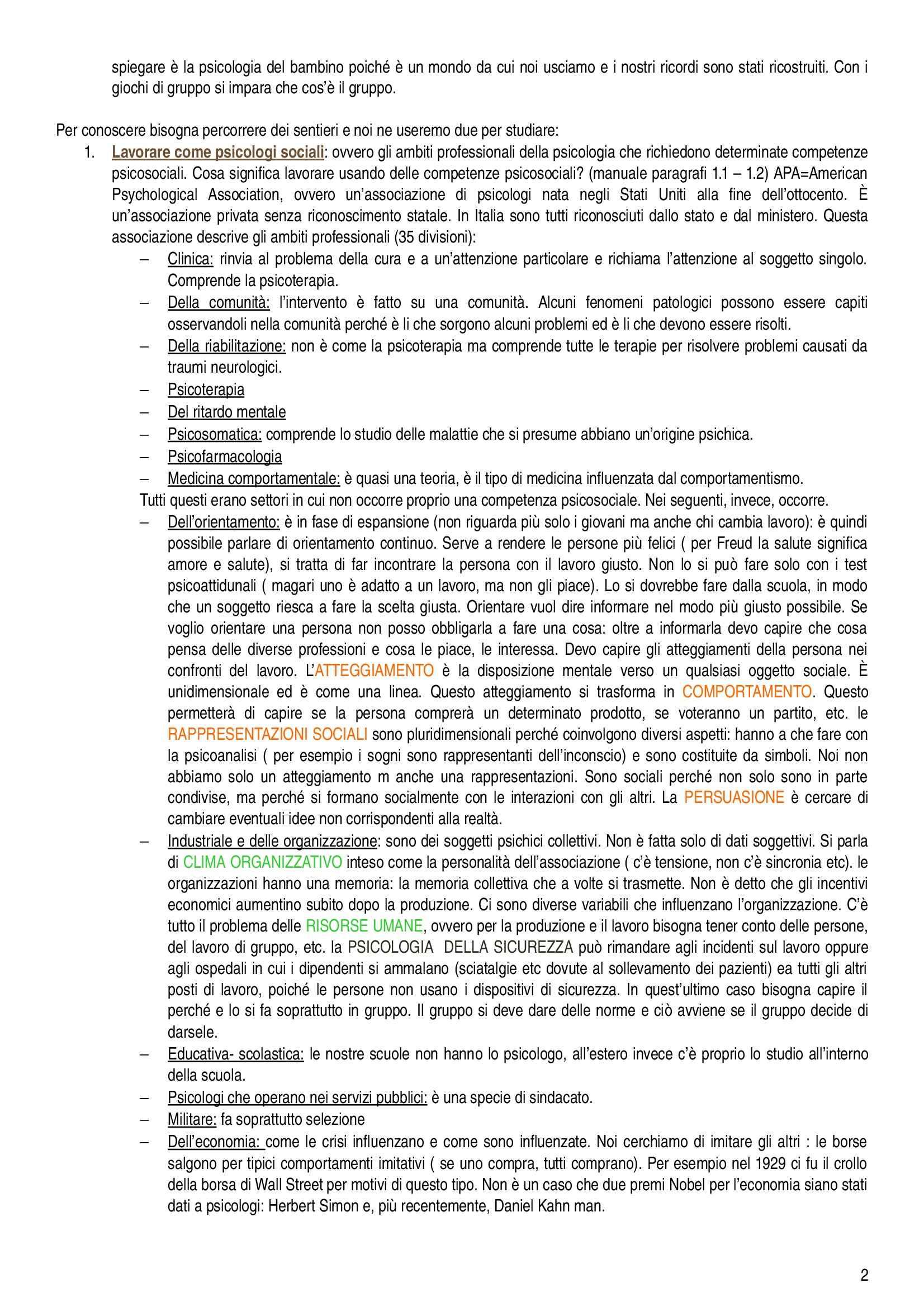 Psicologia sociale - Appunti Pag. 2