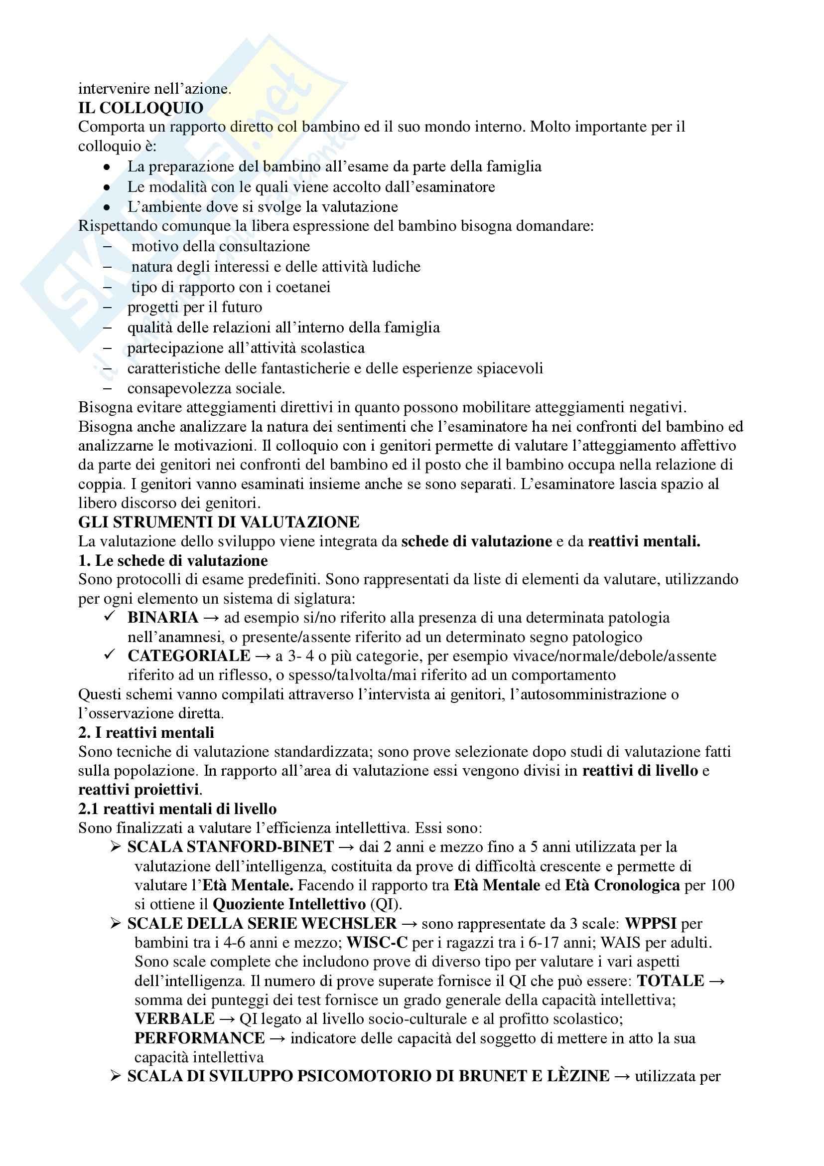 Sviluppo neuropsichico Pag. 11