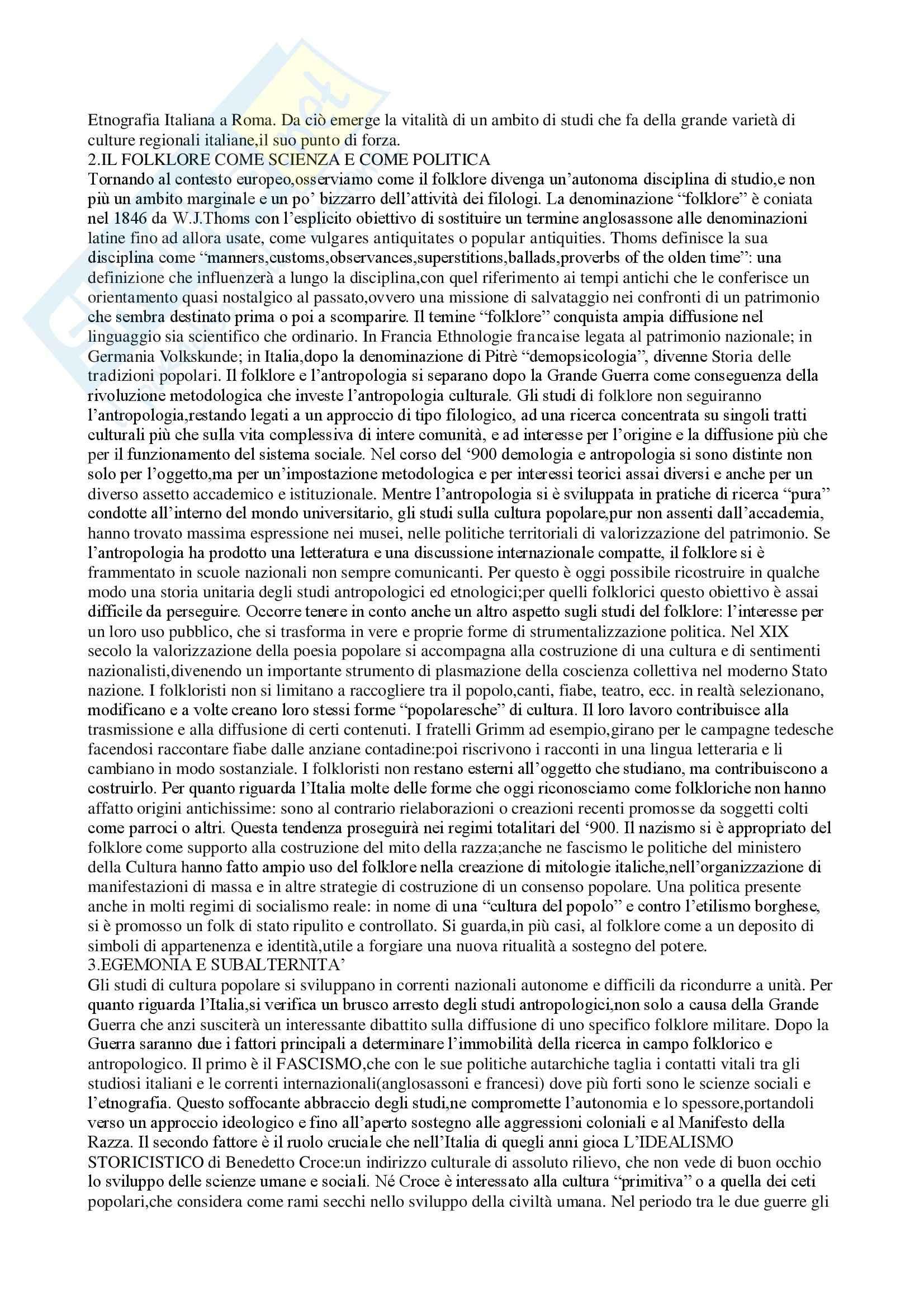 Riassunto esame Antropologia Culturale e Processi di Migrazione, prof. Sorgoni, libro consigliato Antropologia Culturale, Dei Pag. 21