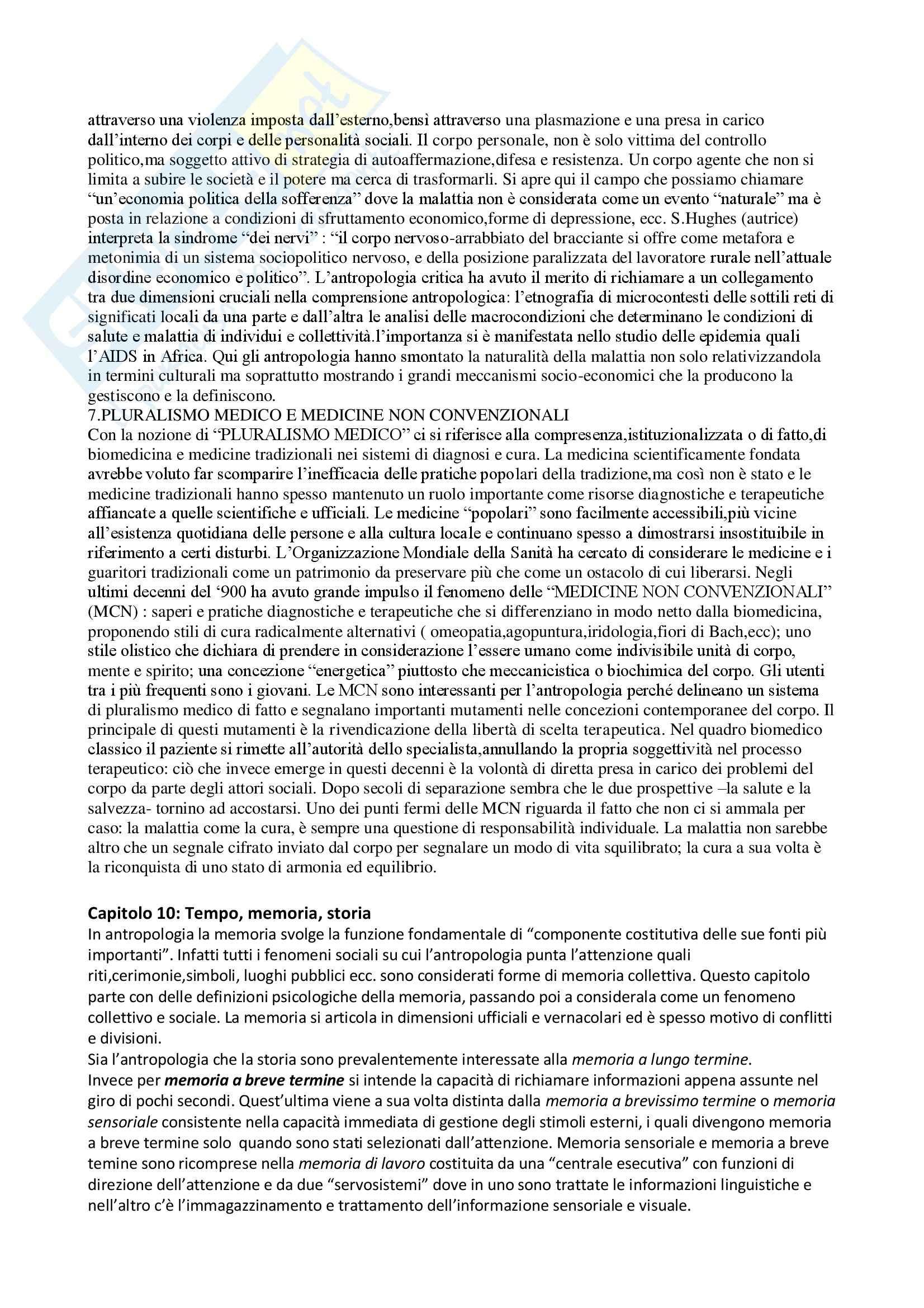Riassunto esame Antropologia Culturale e Processi di Migrazione, prof. Sorgoni, libro consigliato Antropologia Culturale, Dei Pag. 31