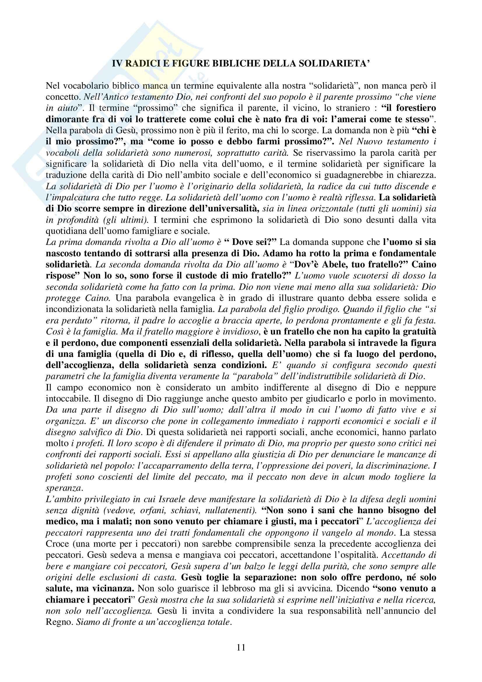 Riassunto esame Introduzione alla Teologia, prof. Pessani, libro consigliato Il seme e la terra, Maggioni Pag. 11