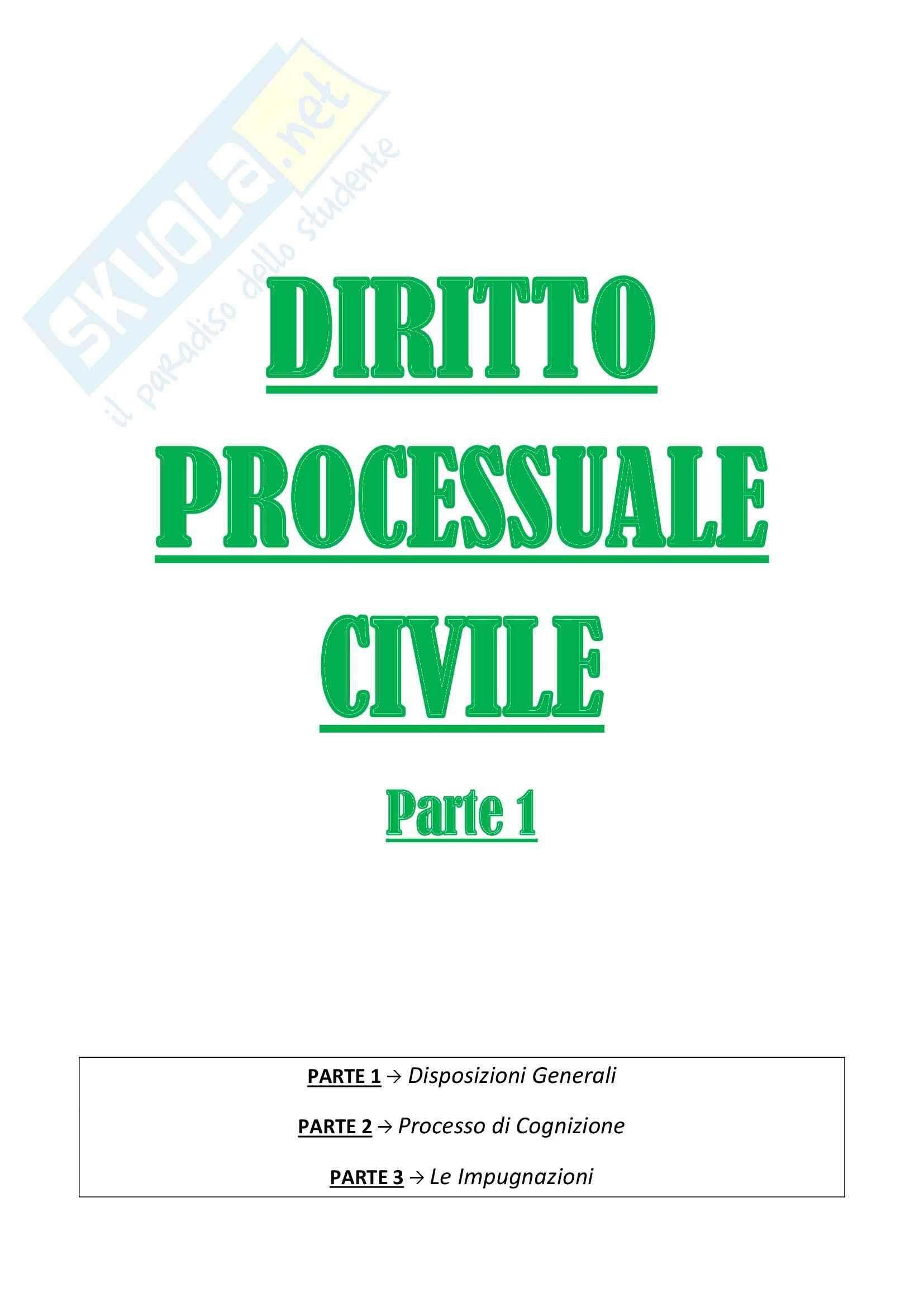 Diritto processuale civile I - parte 1