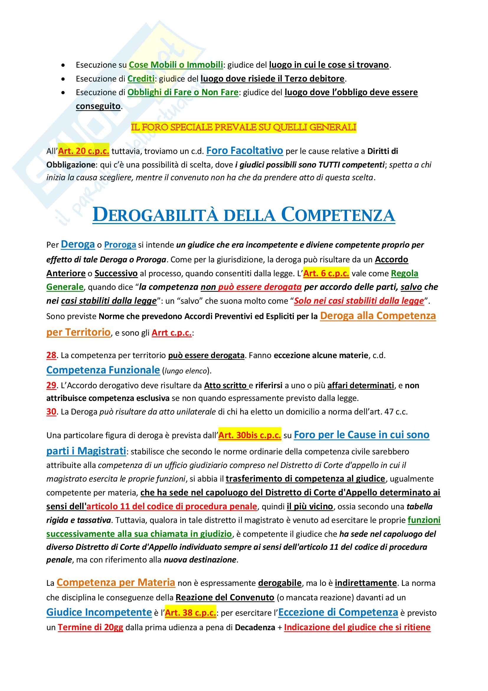 Diritto processuale civile I - parte 1 Pag. 21