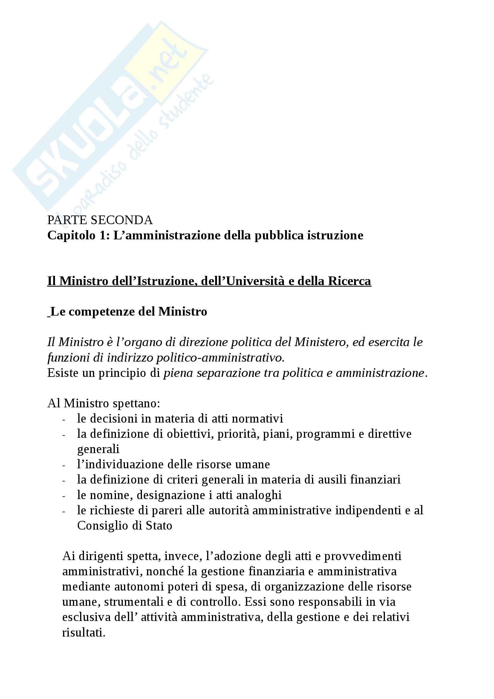Riassunto esame Legislazione scolastica, prof. Calascibetta, libro consigliato Compendio di legislazione scolastica, Francavilla Pag. 16