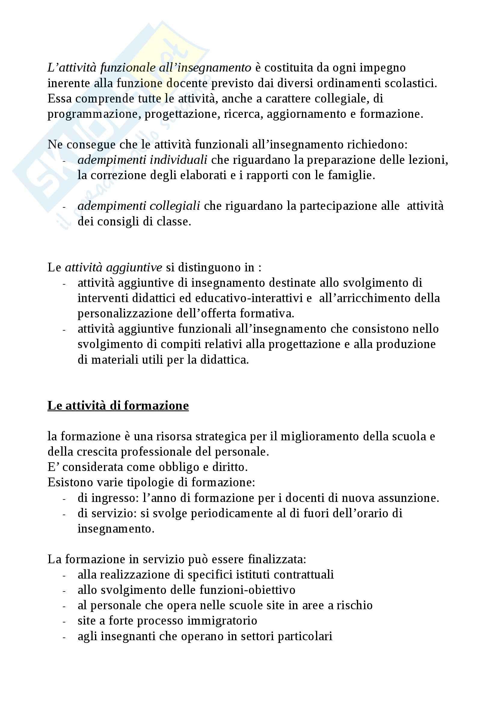 Riassunto esame Legislazione scolastica, prof. Calascibetta, libro consigliato Compendio di legislazione scolastica, Francavilla Pag. 26