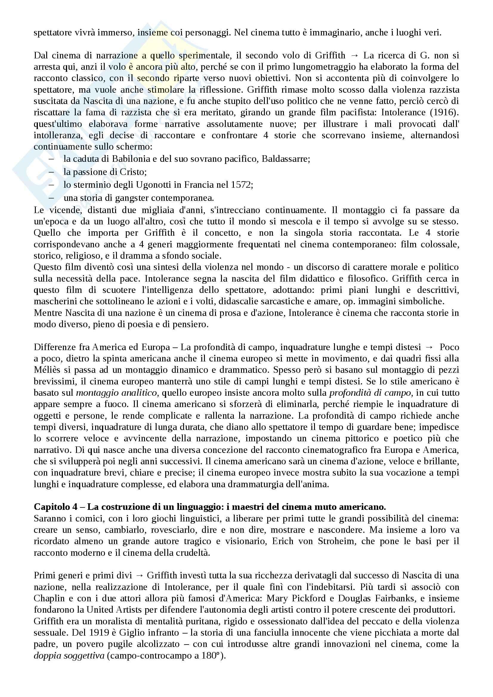 Riassunto esame Storia del cinema, prof. Bernardi, libro consigliato L'avventura del cinematografo, Bernardi Pag. 11