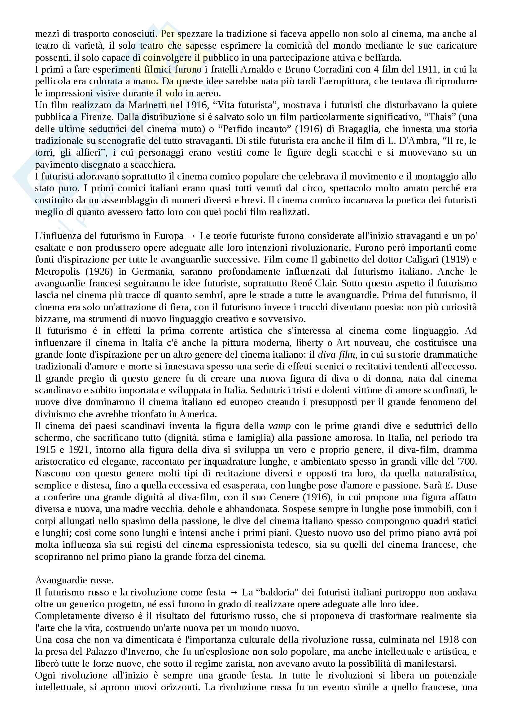 Riassunto esame Storia del cinema, prof. Bernardi, libro consigliato L'avventura del cinematografo, Bernardi Pag. 16