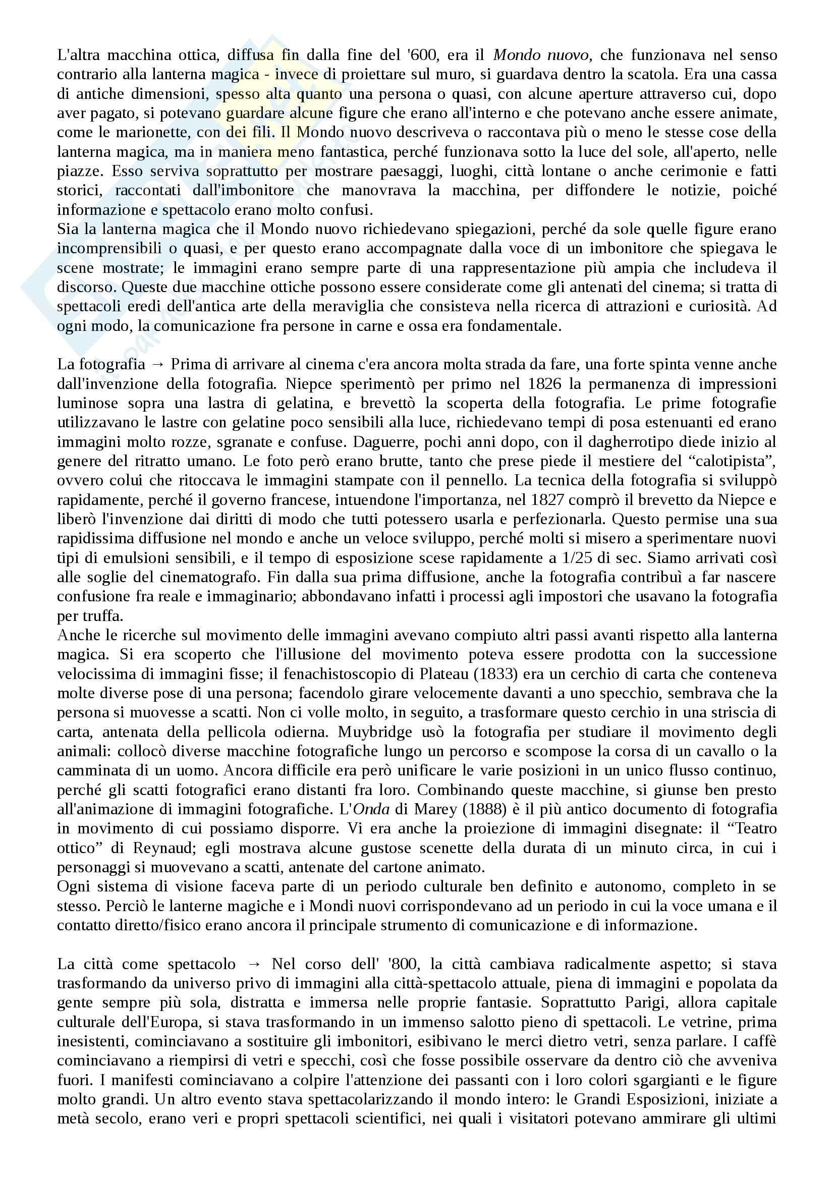 Riassunto esame Storia del cinema, prof. Bernardi, libro consigliato L'avventura del cinematografo, Bernardi Pag. 2