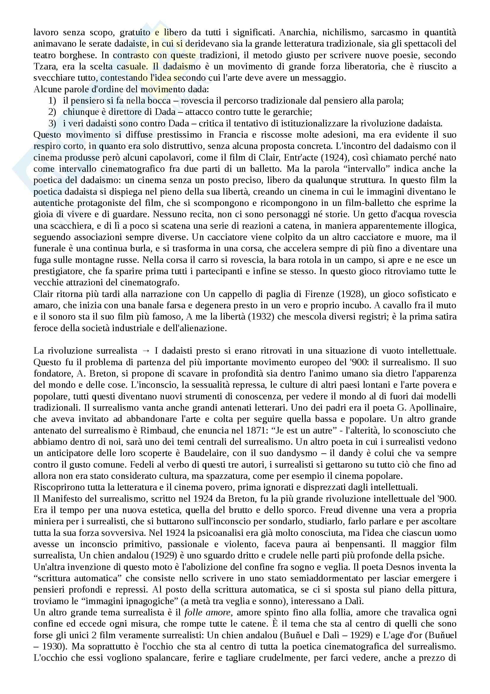 Riassunto esame Storia del cinema, prof. Bernardi, libro consigliato L'avventura del cinematografo, Bernardi Pag. 21