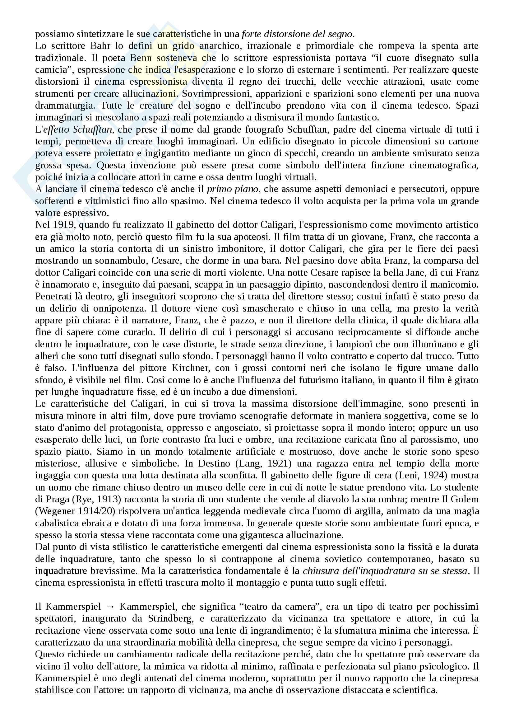Riassunto esame Storia del cinema, prof. Bernardi, libro consigliato L'avventura del cinematografo, Bernardi Pag. 26