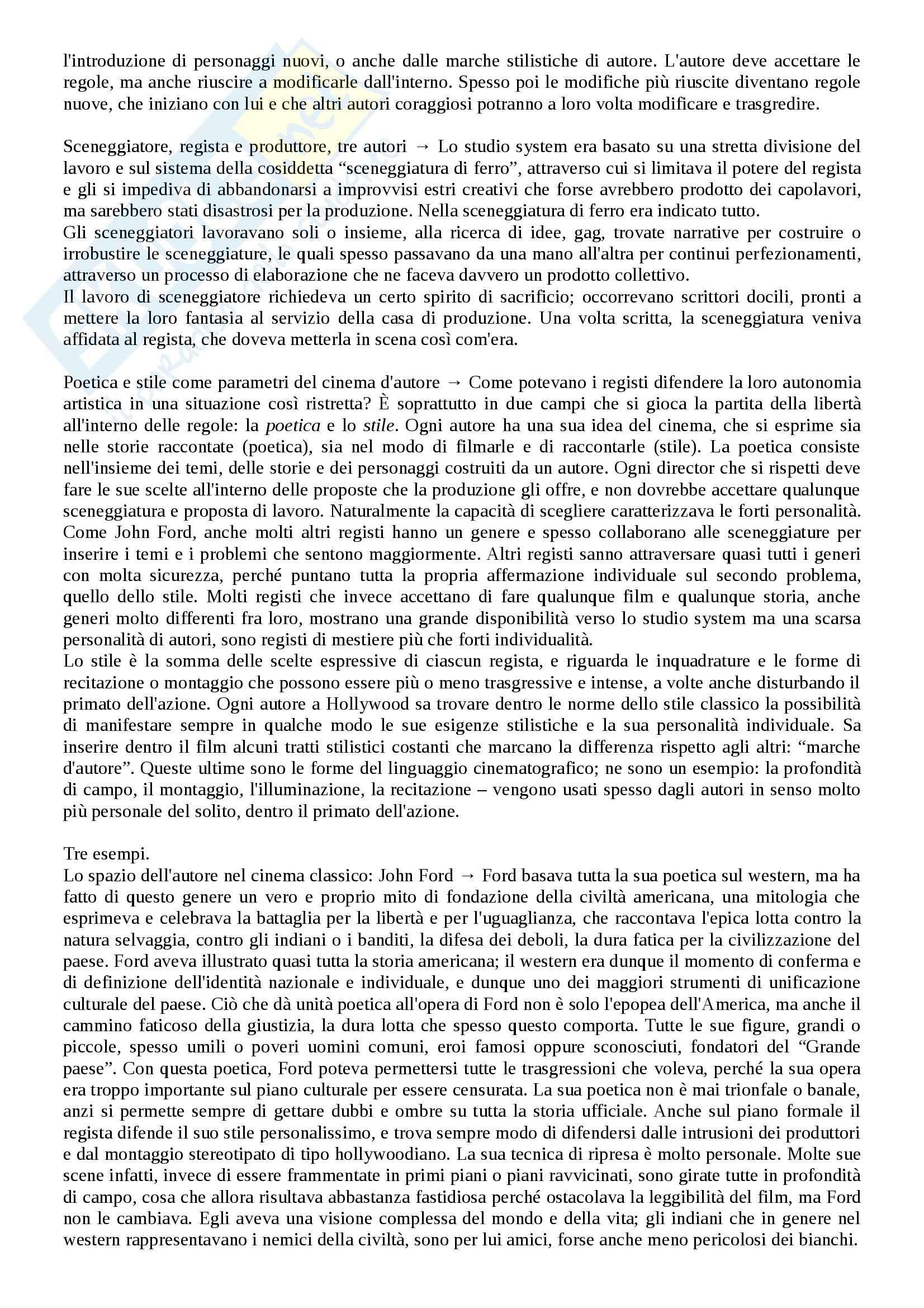 Riassunto esame Storia del cinema, prof. Bernardi, libro consigliato L'avventura del cinematografo, Bernardi Pag. 36