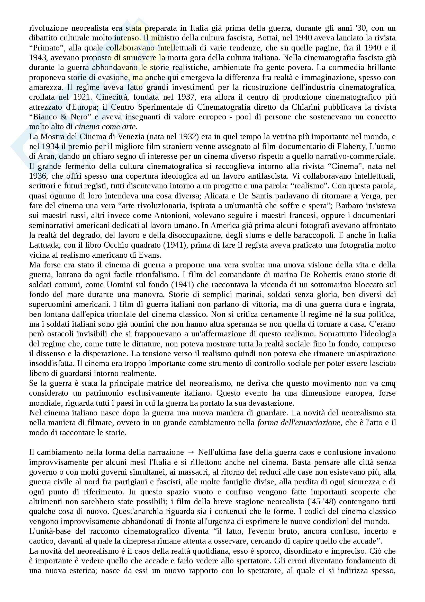Riassunto esame Storia del cinema, prof. Bernardi, libro consigliato L'avventura del cinematografo, Bernardi Pag. 41