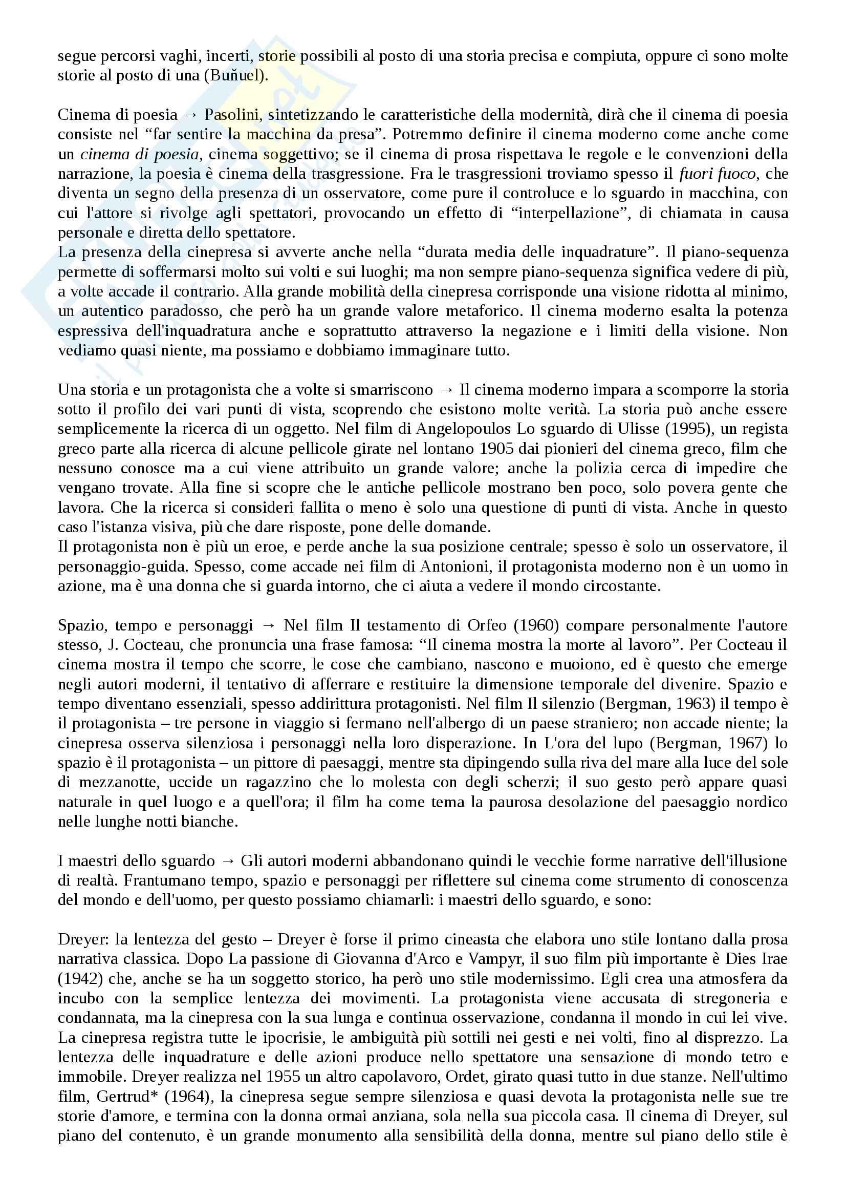 Riassunto esame Storia del cinema, prof. Bernardi, libro consigliato L'avventura del cinematografo, Bernardi Pag. 56