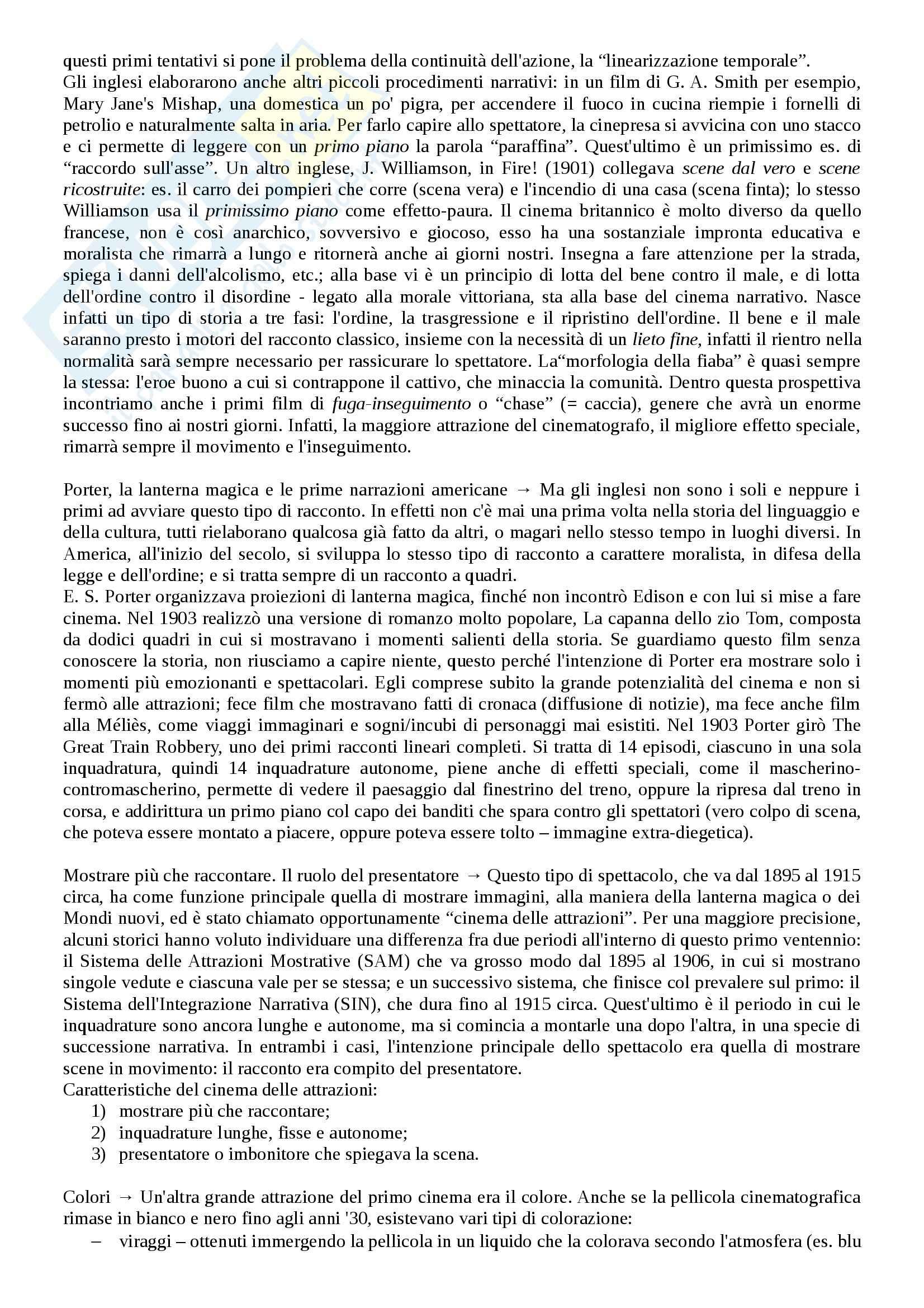 Riassunto esame Storia del cinema, prof. Bernardi, libro consigliato L'avventura del cinematografo, Bernardi Pag. 6