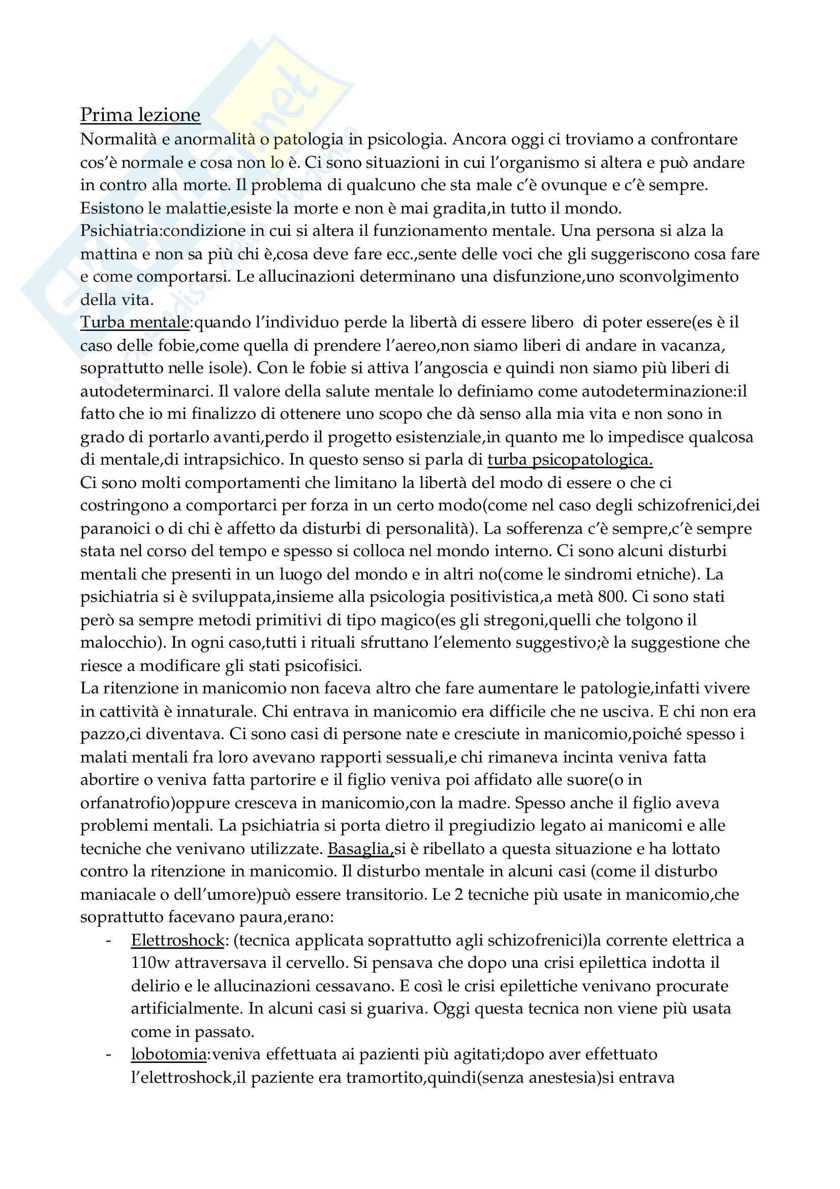 appunto C. Cedro Psichiatria