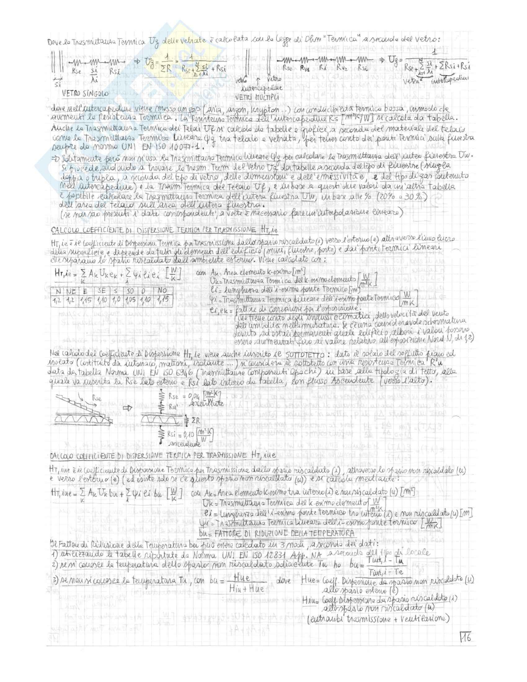 Riassunto esame Impianti Tecnici, prof. Morini, libri consigliati Progettazione di Impianti Tecnici, Moncada Lo Giudice, de Santoli e Lezioni di impianti tecnici vol. I, Brunello, Bettanini Pag. 16